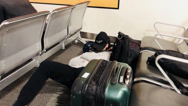クライストチャーチ空港|空港泊の様子
