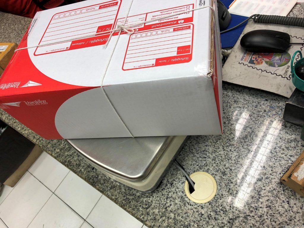 バンコクのタイ郵便局での荷物の送り方