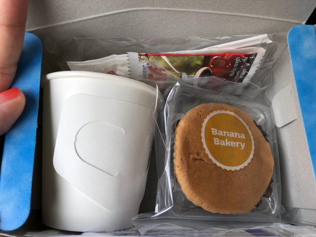タイからカンボジアへ陸路移動|バス内の軽食