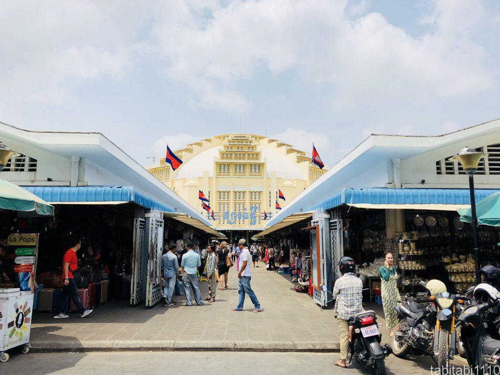 プノンペンのセントラルマーケット