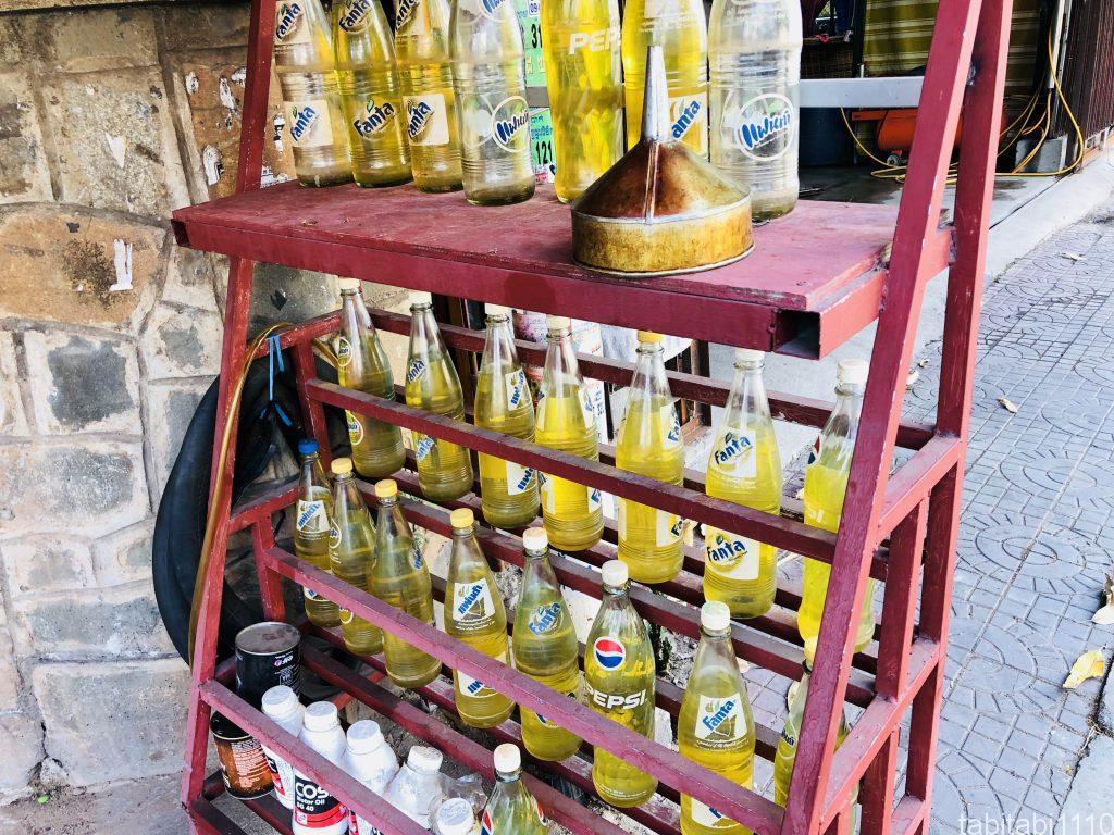 カンボジアで見かけるガソリン