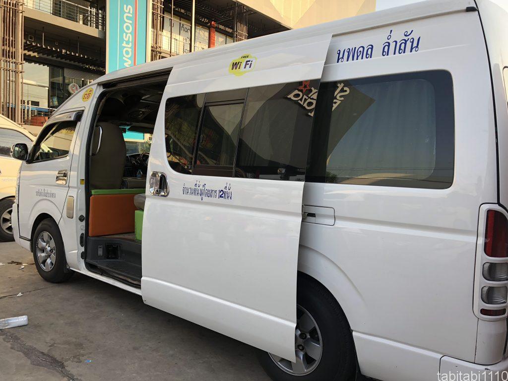 プノンペンからバンコク|タイ側で乗るバン