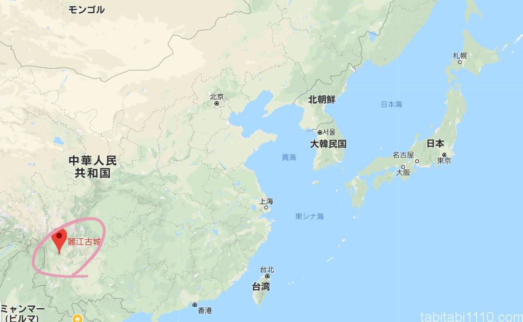 麗江の位置