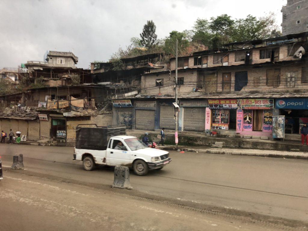 カトマンズからポカラへバス移動|道中の景色