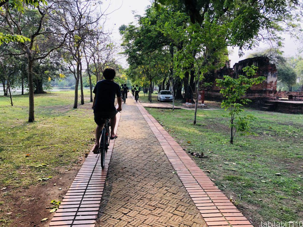 アユタヤ公園サイクリング