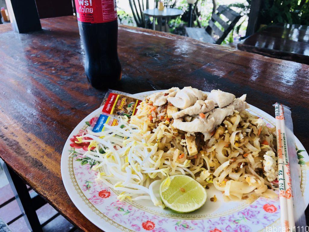 チェンマイからルアンパバーンのお昼休憩