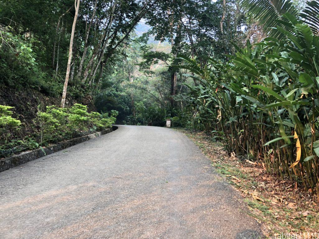 クアンシーの滝までの歩道