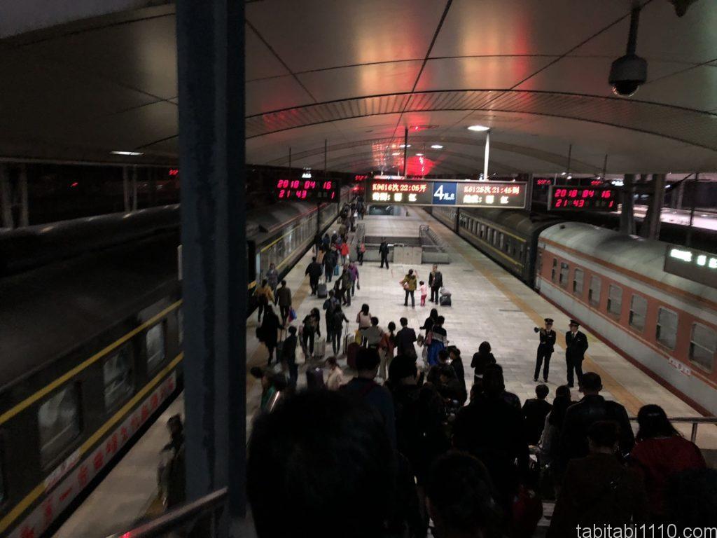 昆明駅ホーム