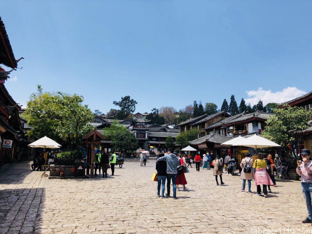 麗江観光|麗江古城広場
