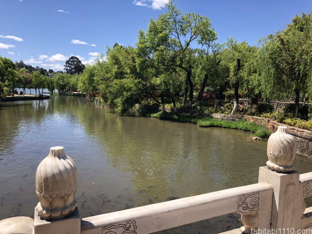 麗江観光|黒龍譚の池