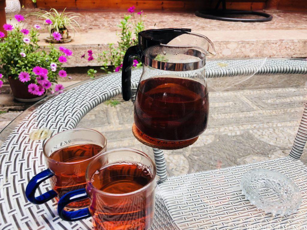 麗江のおすすめ宿で出してくれるお茶