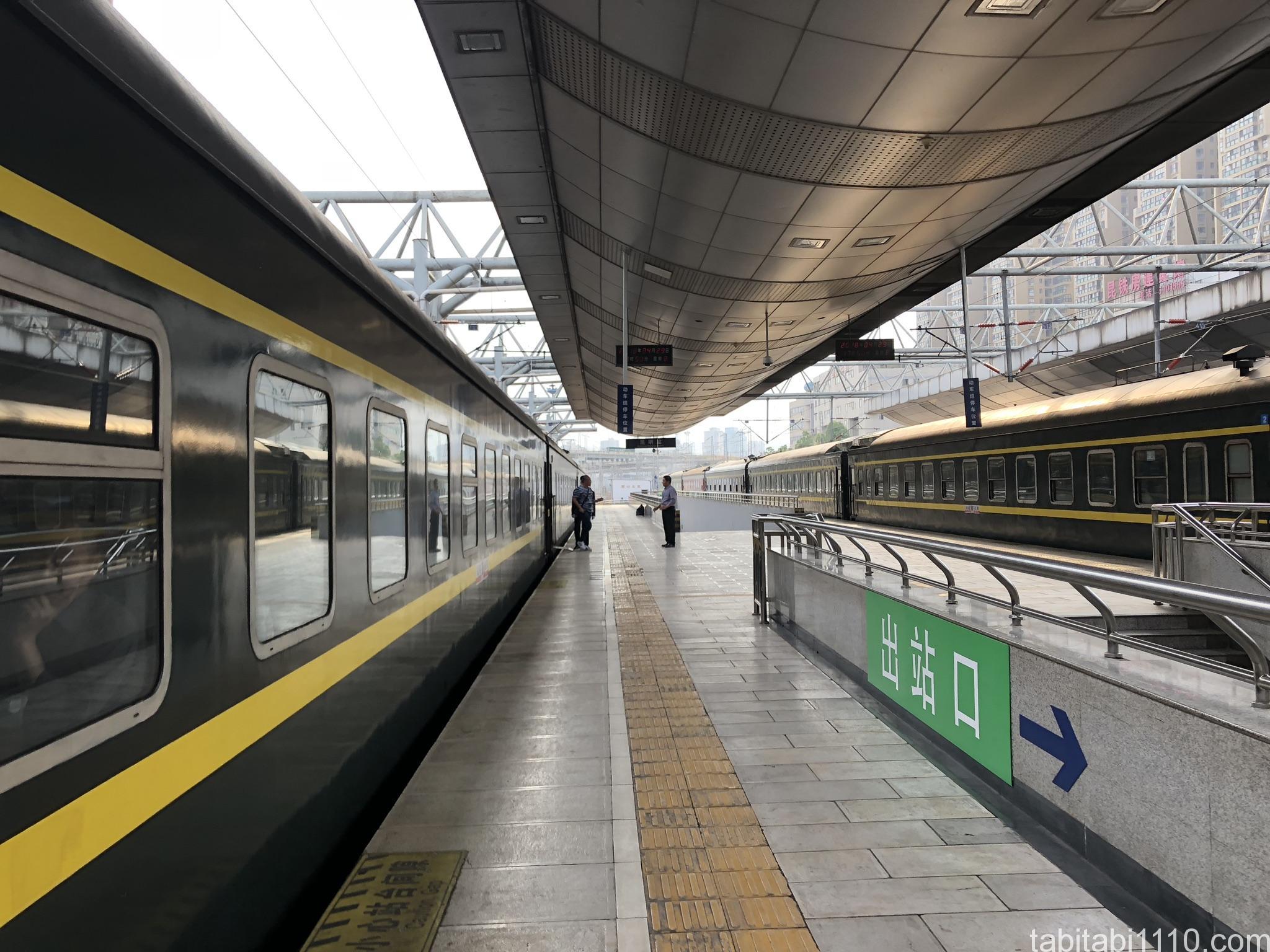 昆明から成都への寝台列車