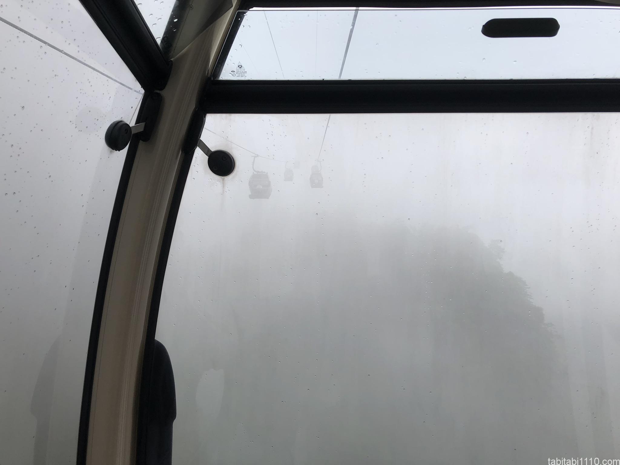 武陵源観光|ロープウェーからの景色