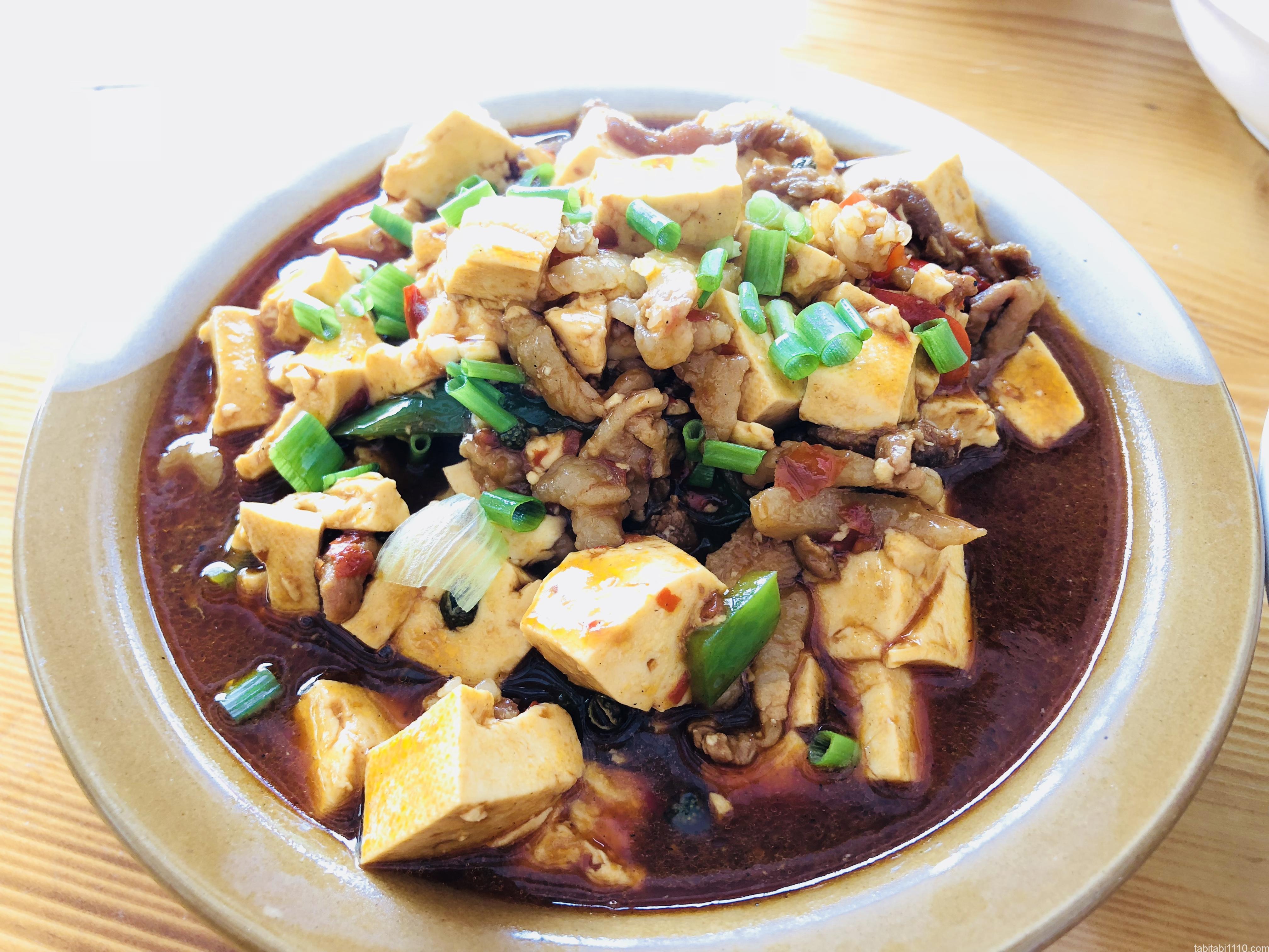 武陵源の食事|おすすめ中華料理店『牛灰汁』の麻婆豆腐