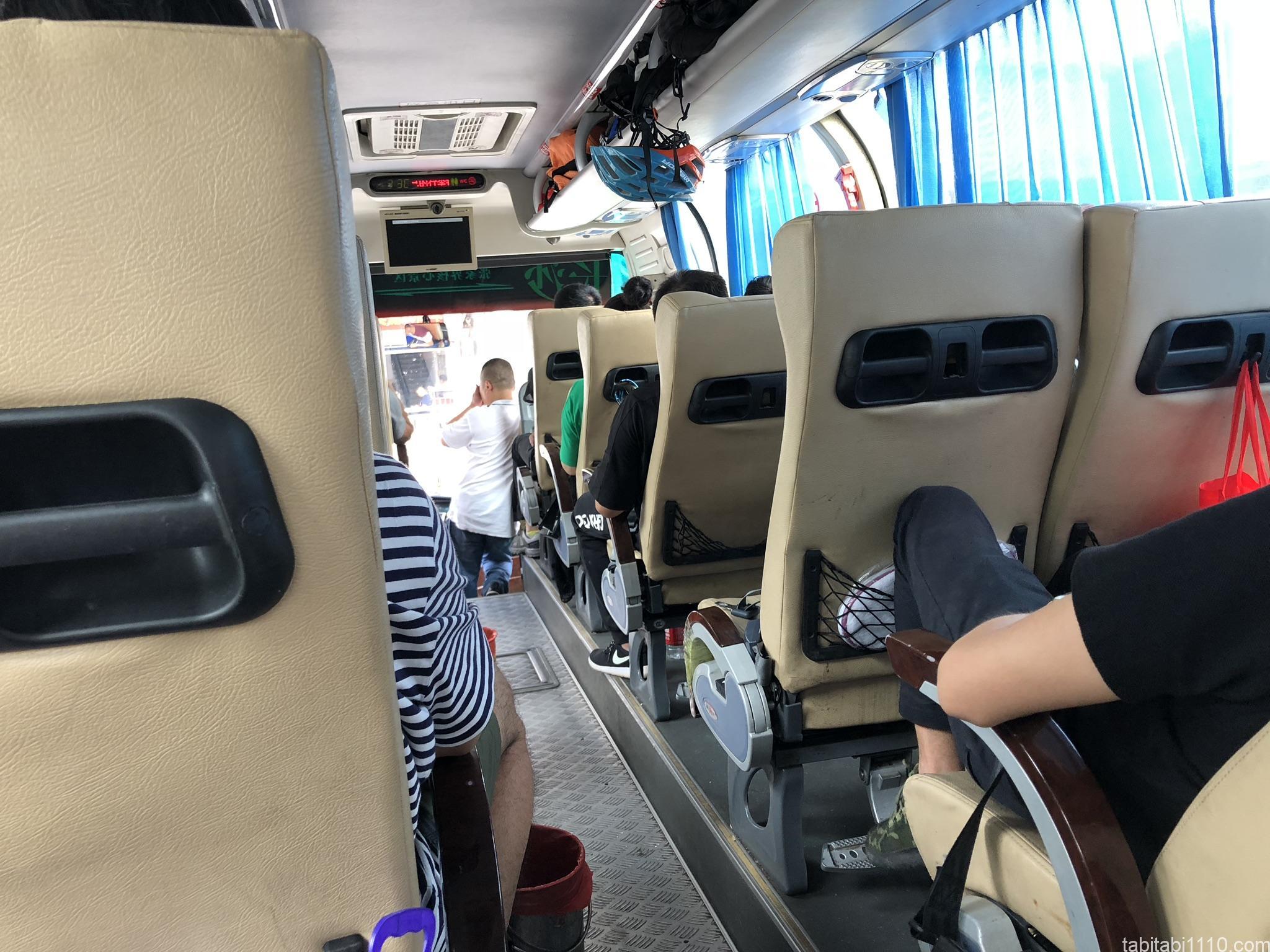 武陵源から長沙 バス車内