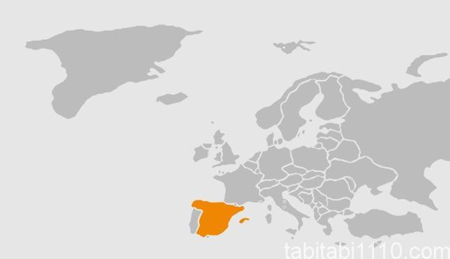 スペインの位置