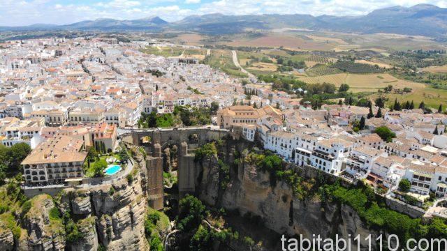スペイン|ロンダの空撮