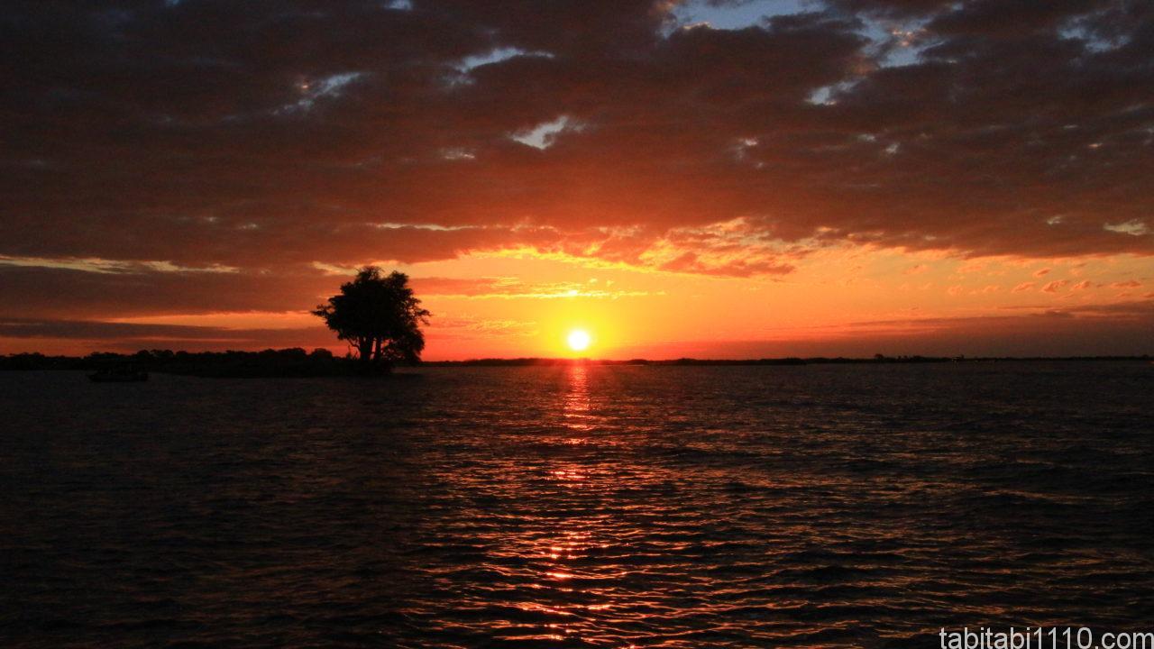 ボートサファリ|夕日