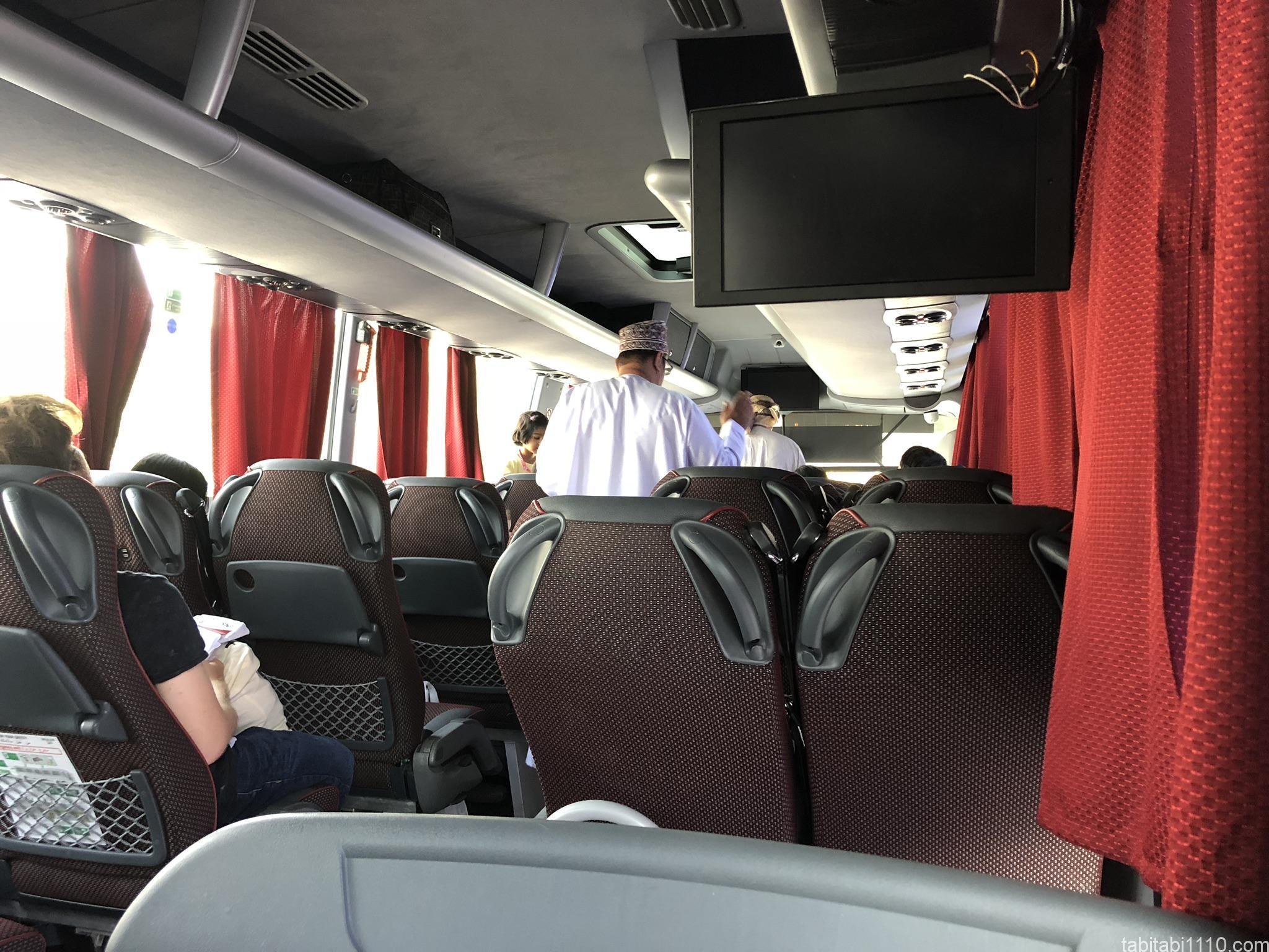 ドバイ⇆マスカット間のバス「ONTC」|車内