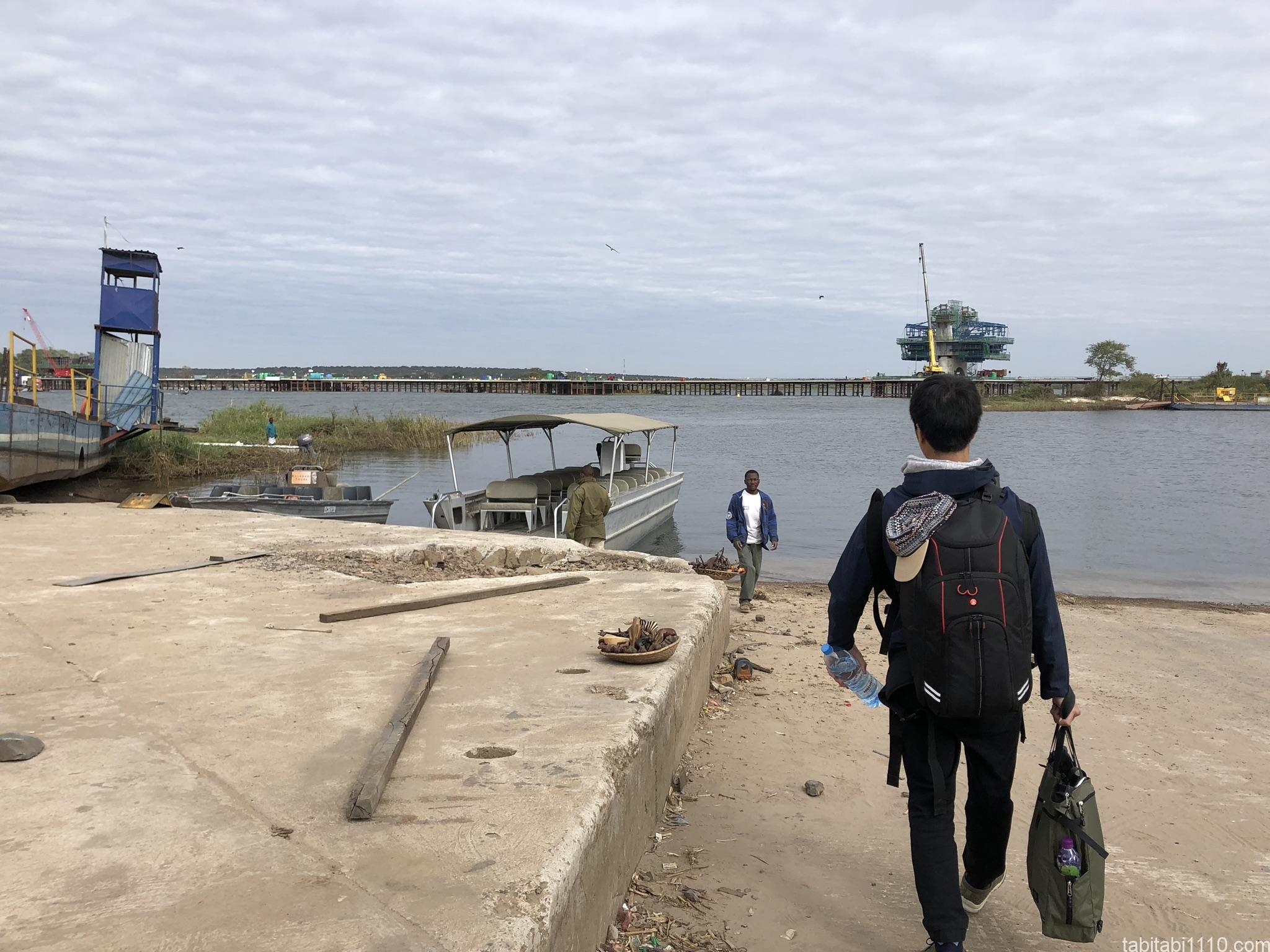 ザンビア国境の様子