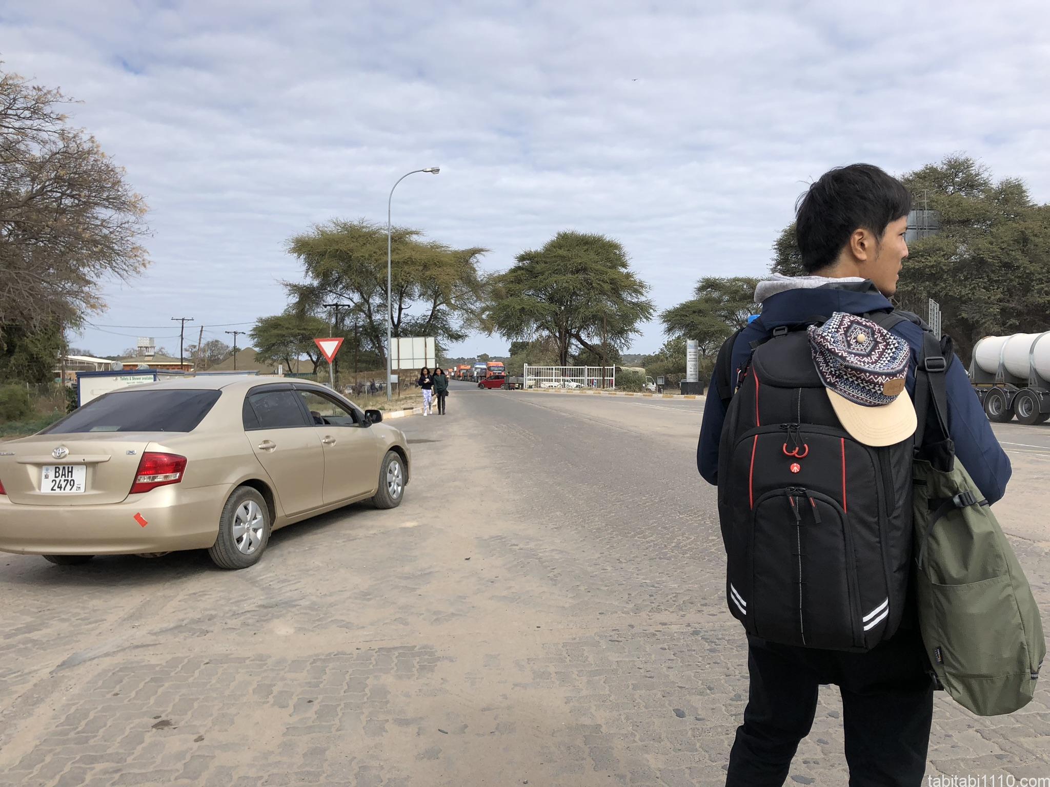 ボツワナ側国境の様子