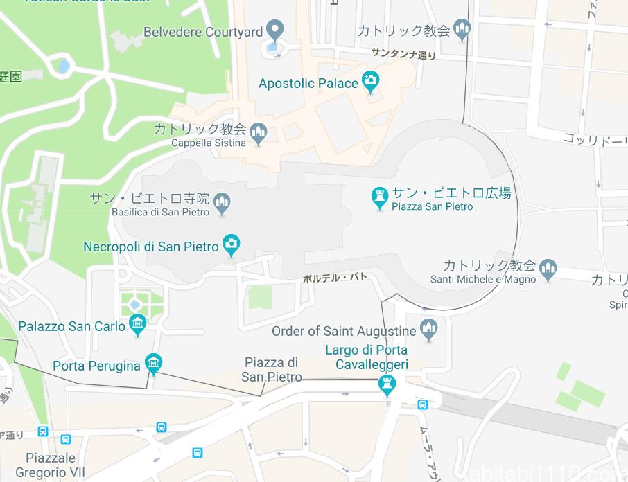 サンピエトロ広場|地図