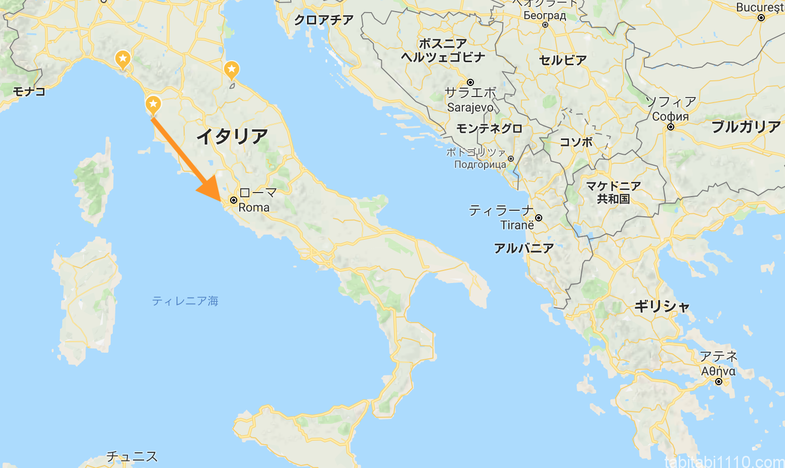 チェチナからローマ