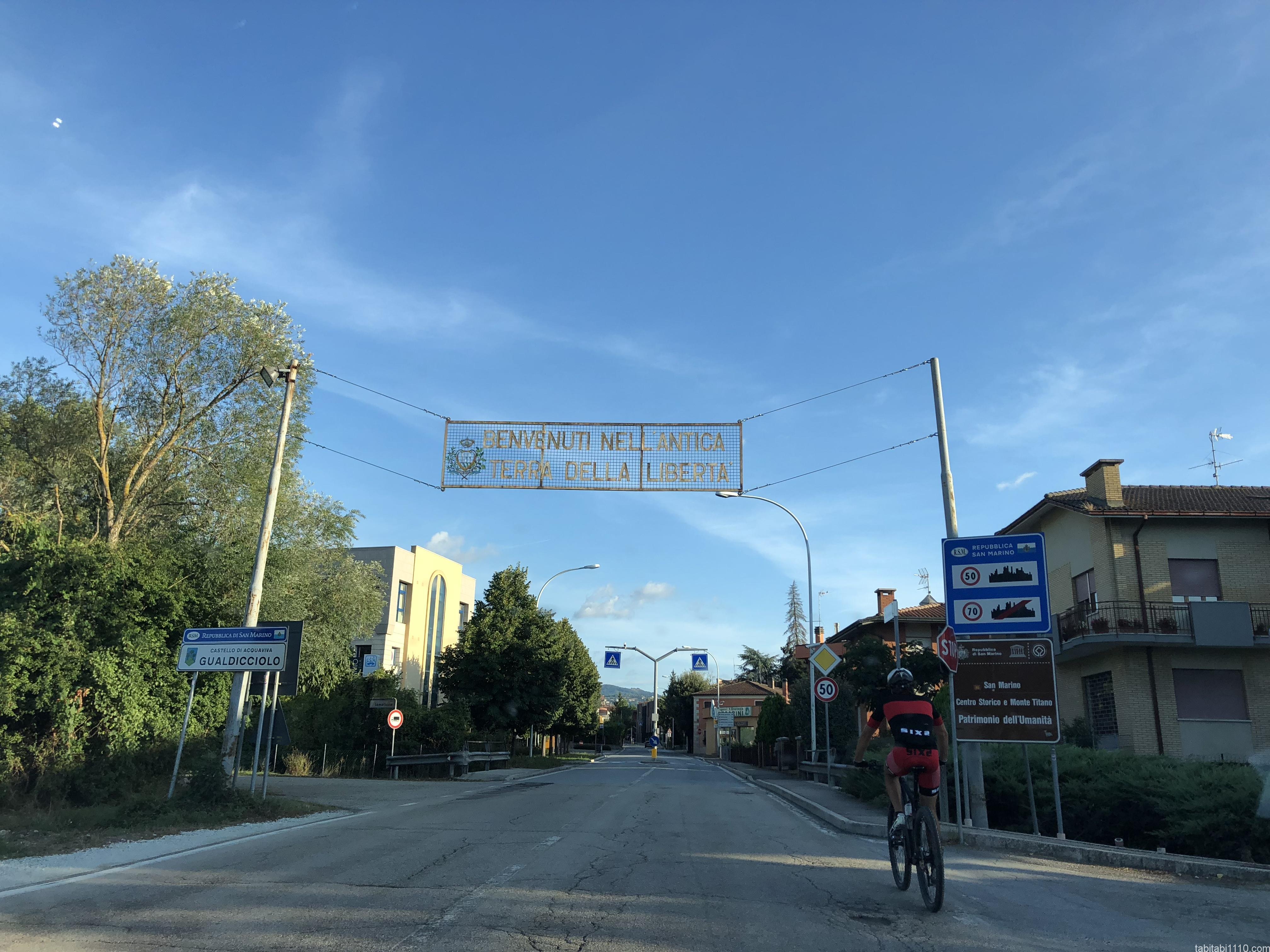 サンマリノ 共和国入口
