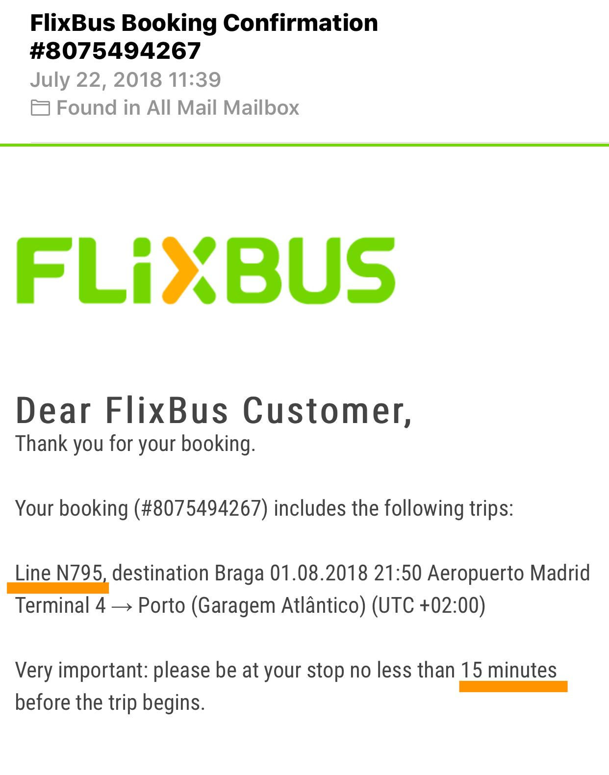 FlixBusの予約の仕方|予約確認メール
