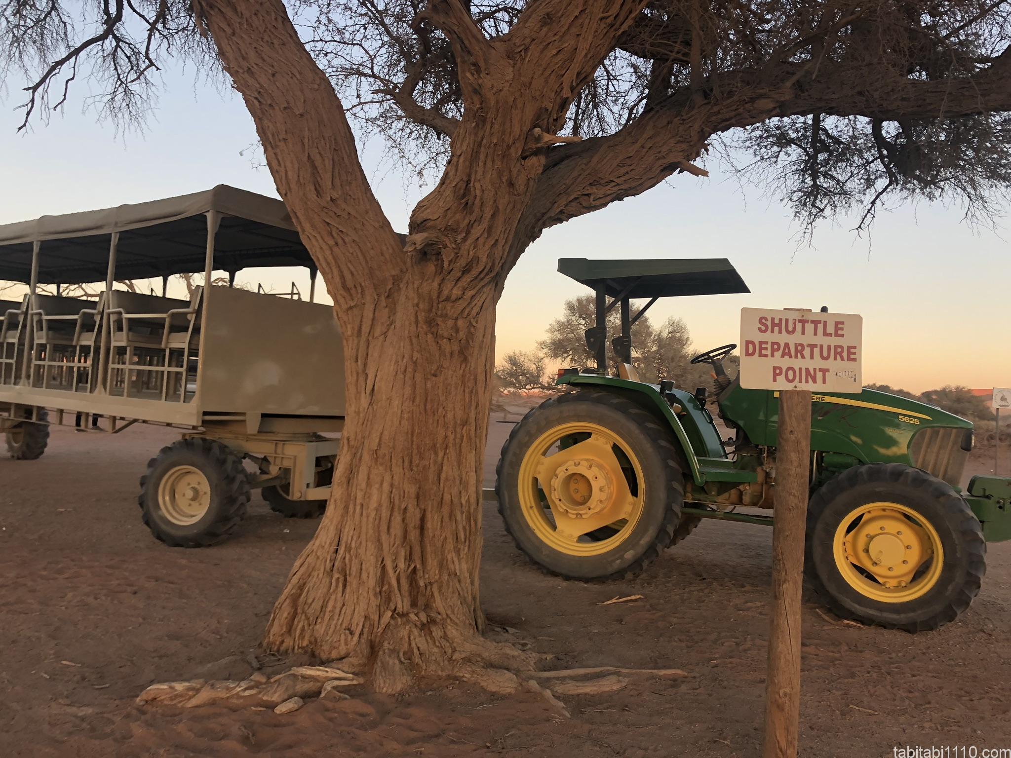 ナミブ砂漠|ジープ乗り場