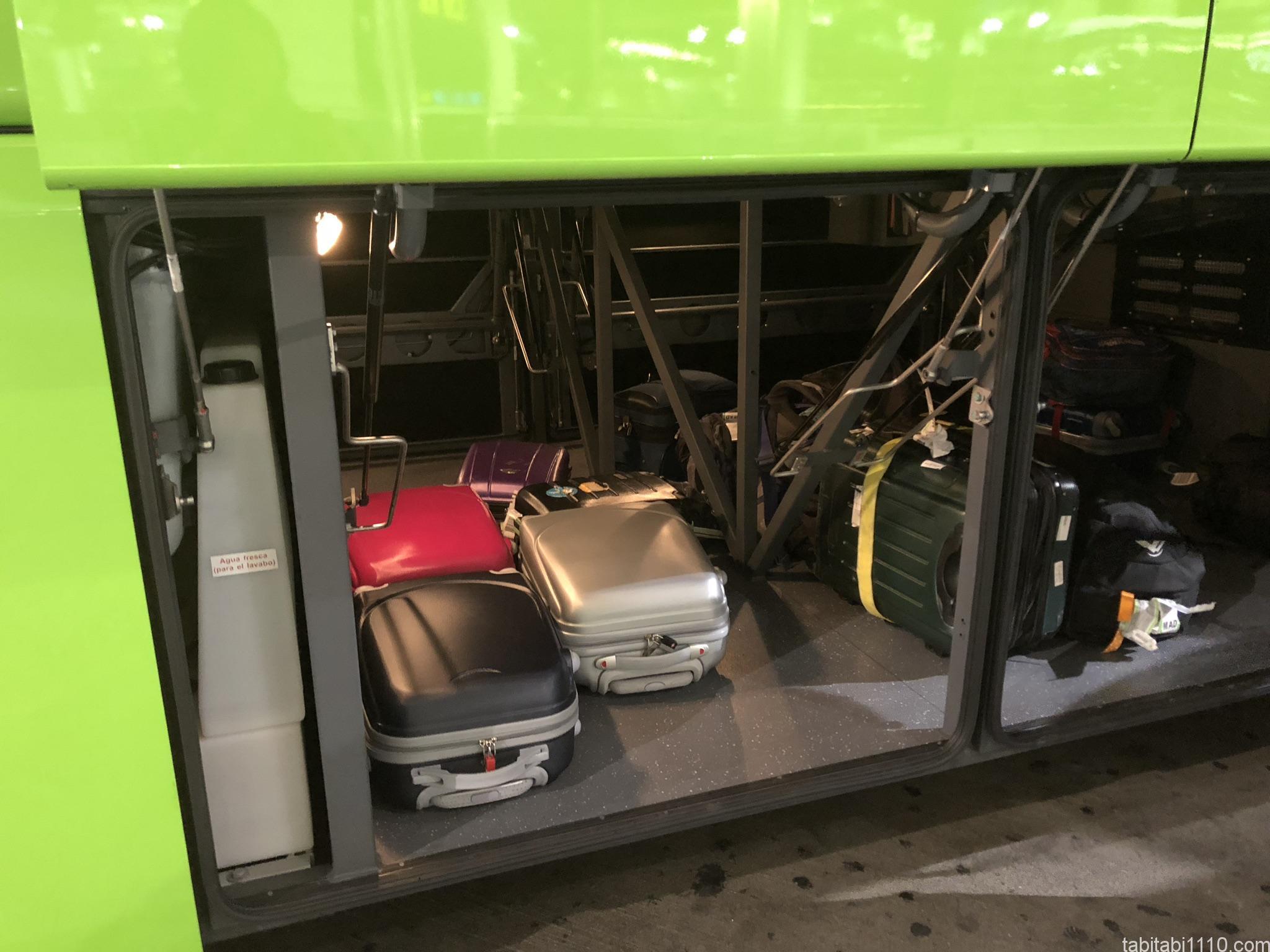 FlixBusのトランク