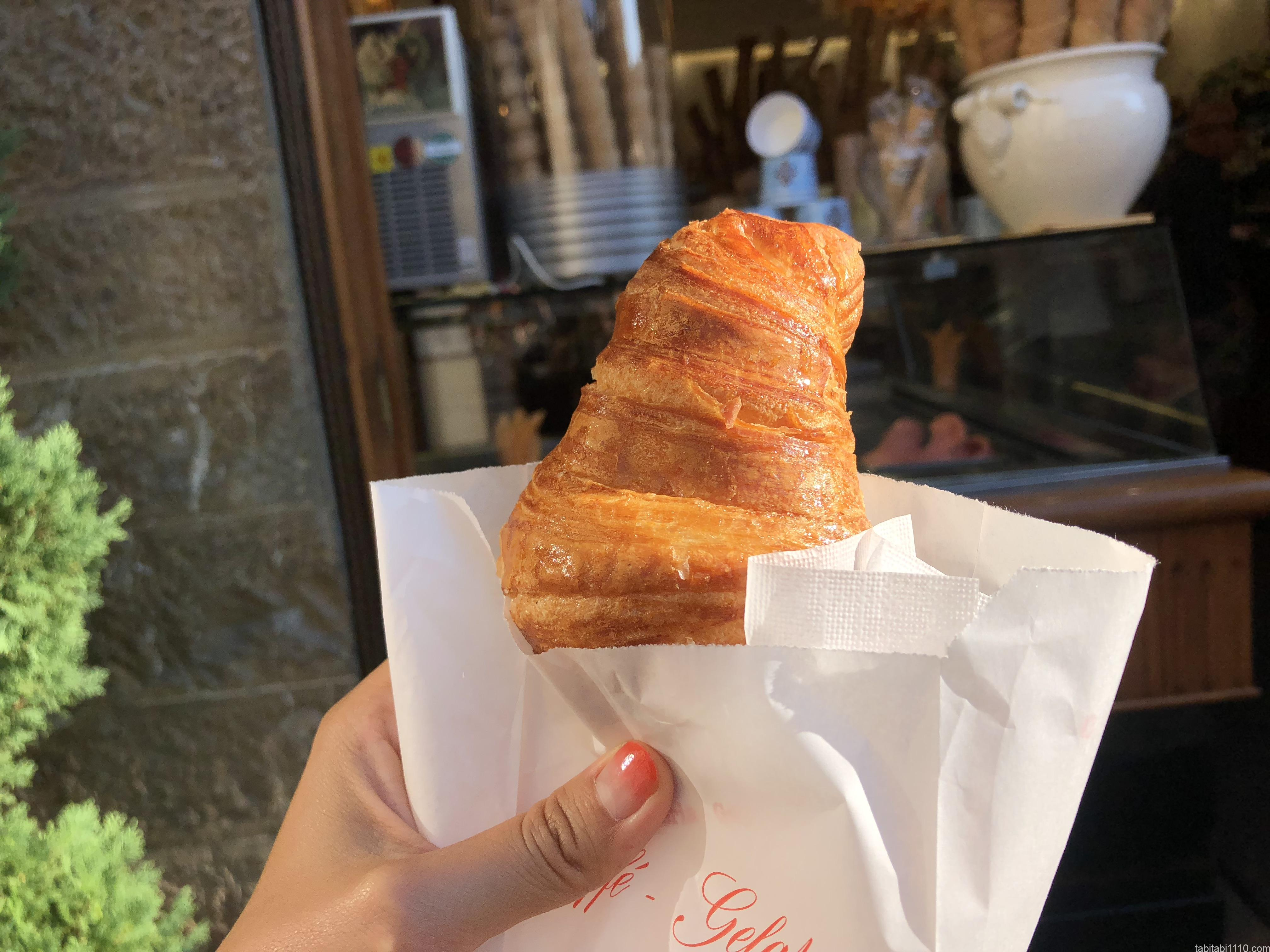 フィレンツェで食べたクロワッサン