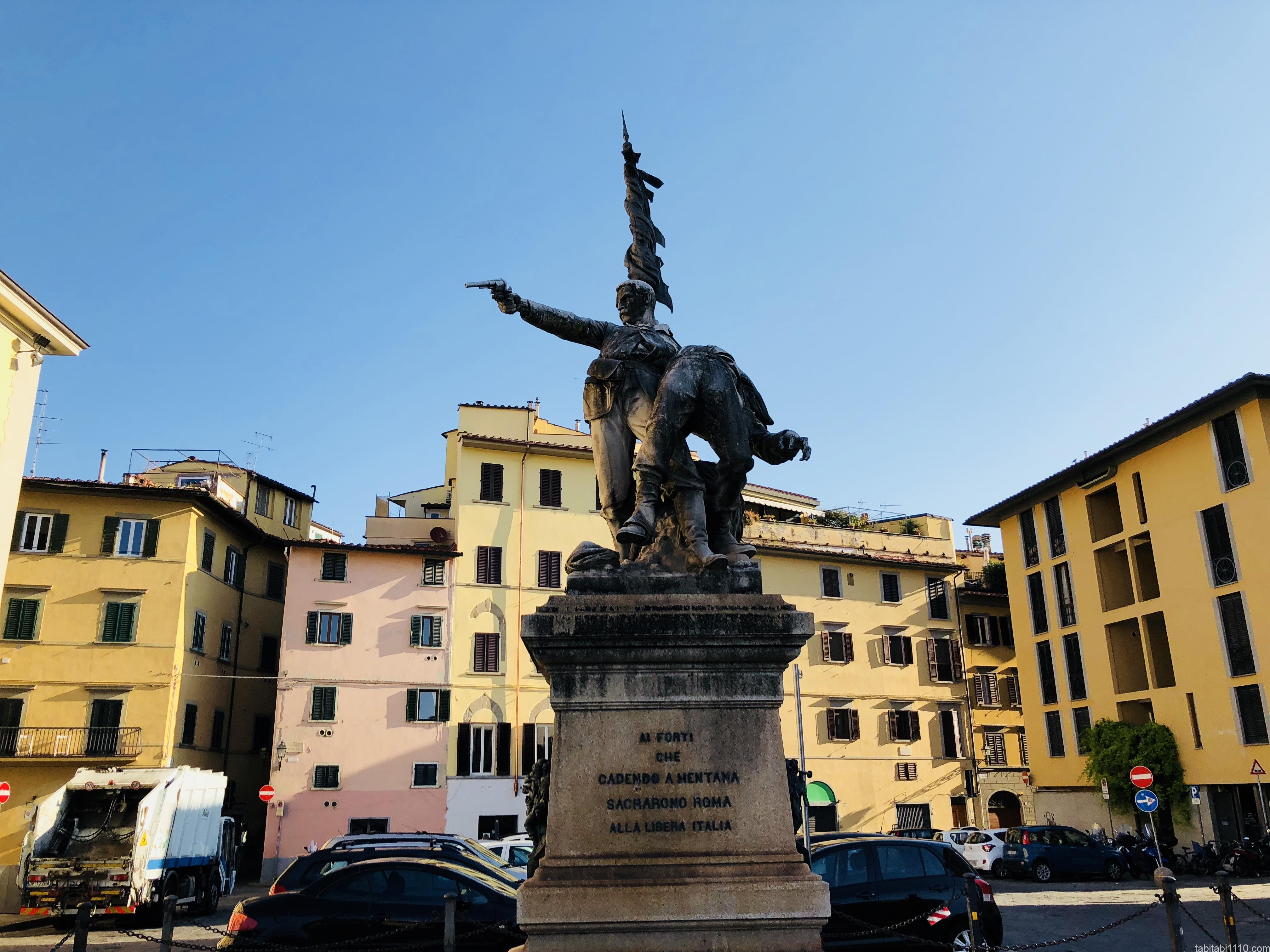 フィレンツェにある何かの銅像