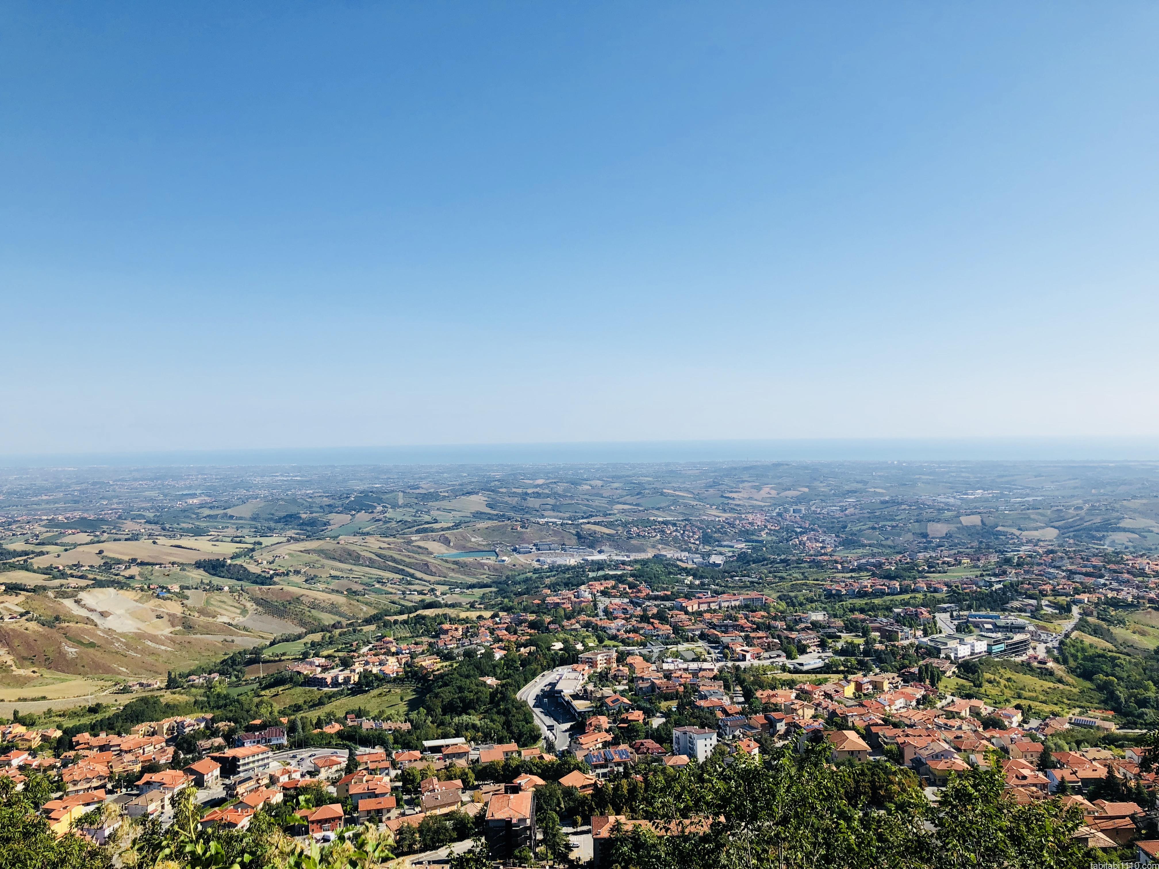 サンマリノから見る景色