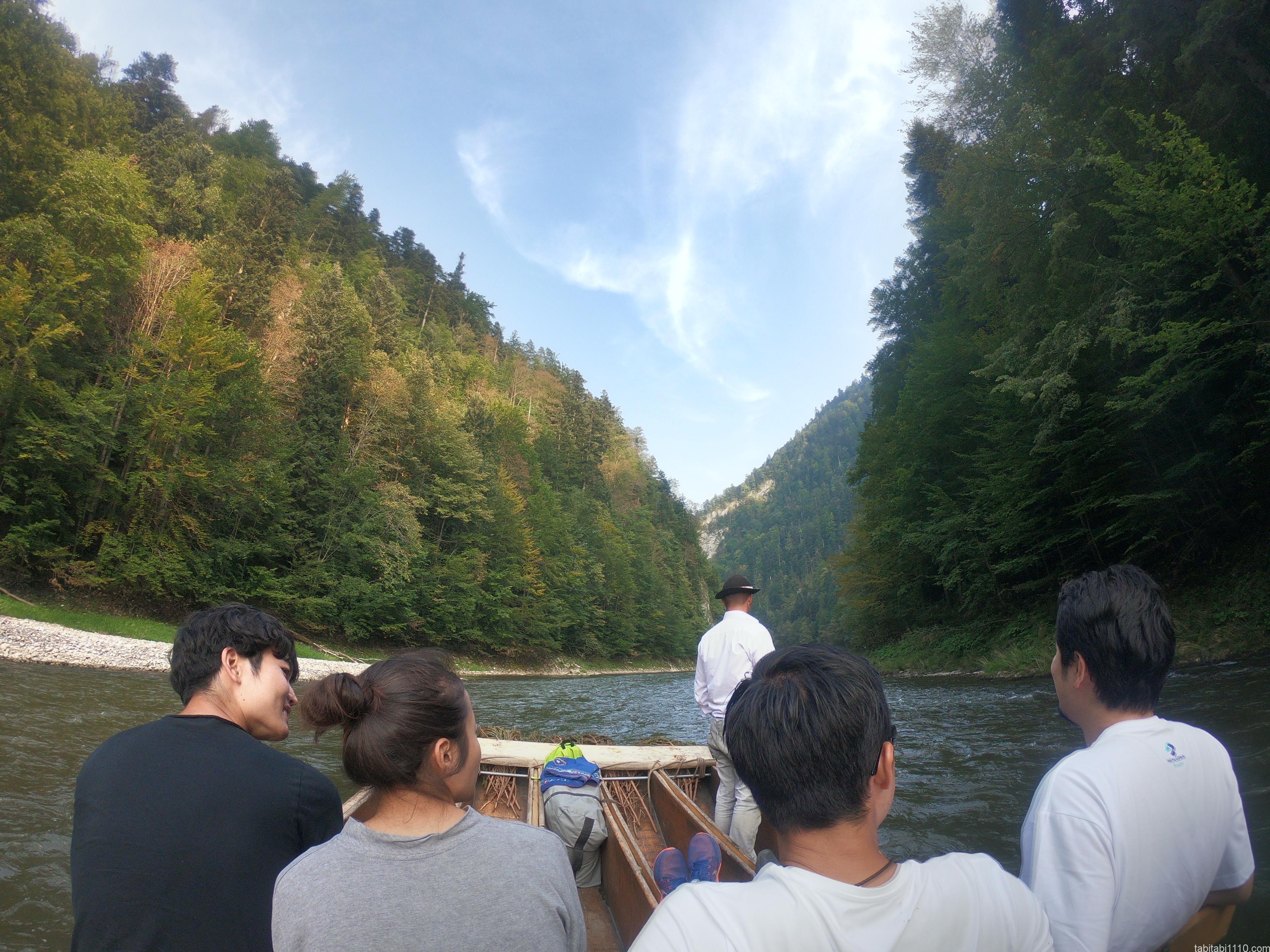 ドゥナイェツ川の川下り