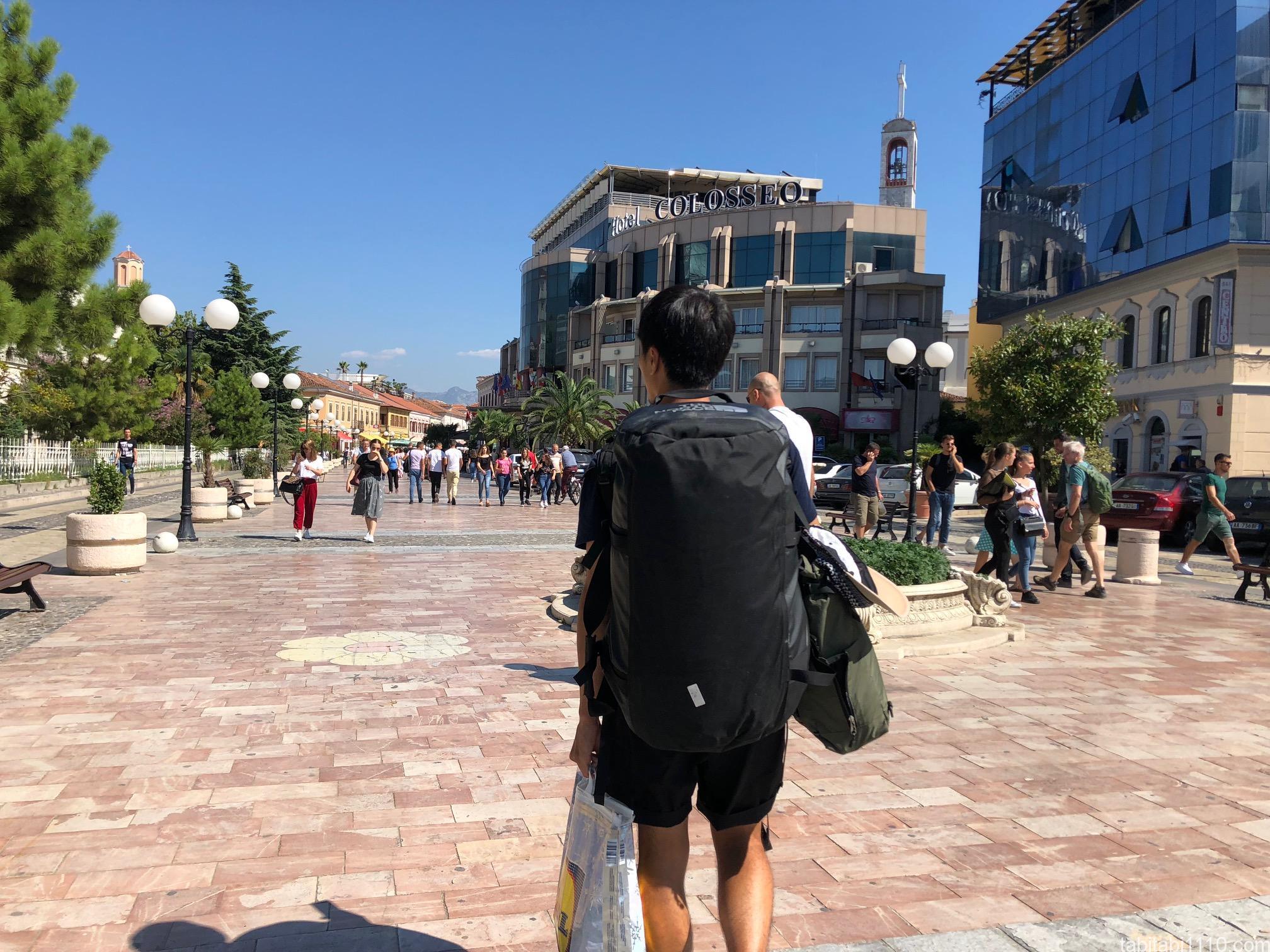 コトルからシュコドラ|シュコドラの街並み
