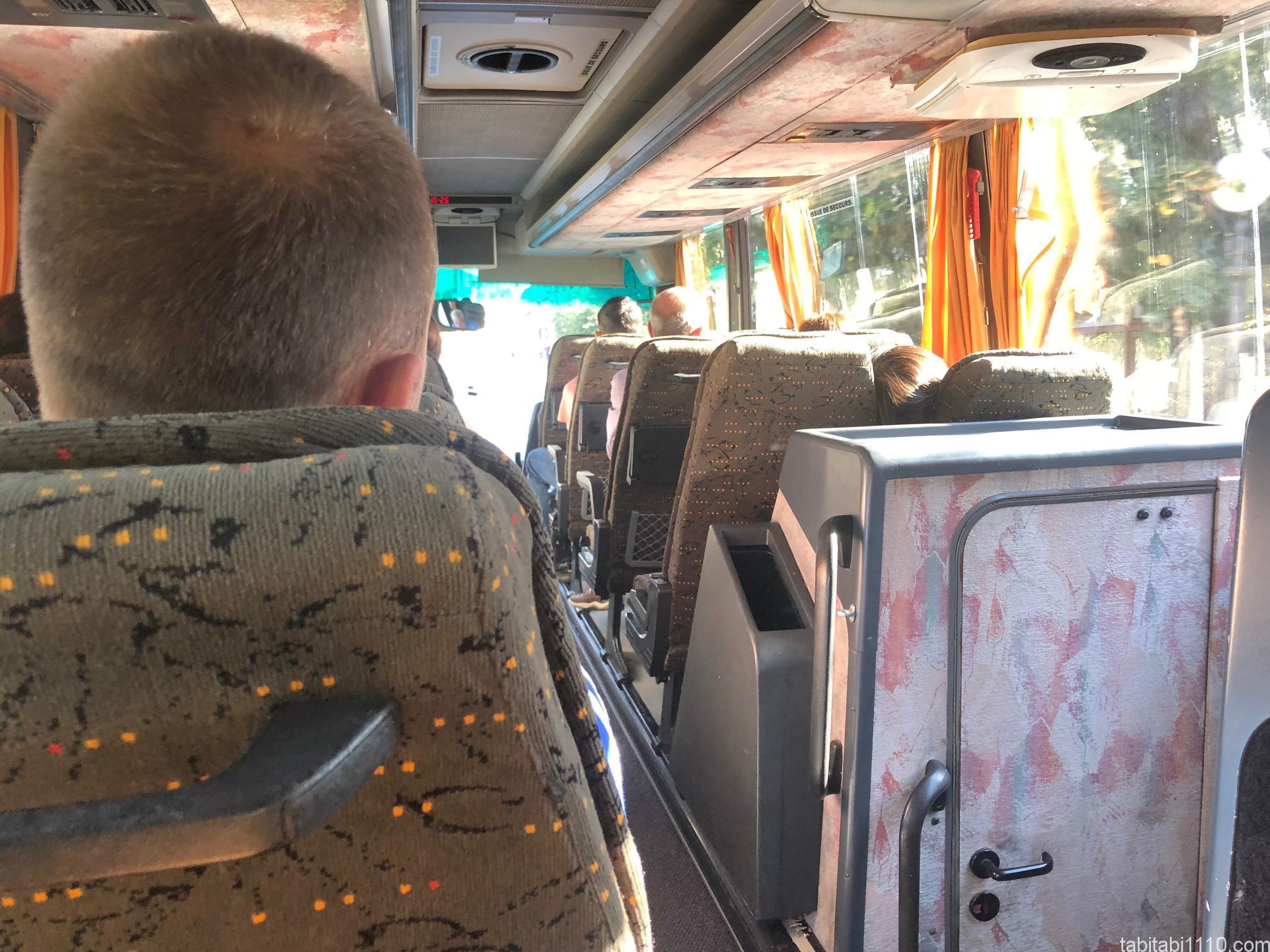 プリズレンからスコピエのバス車内