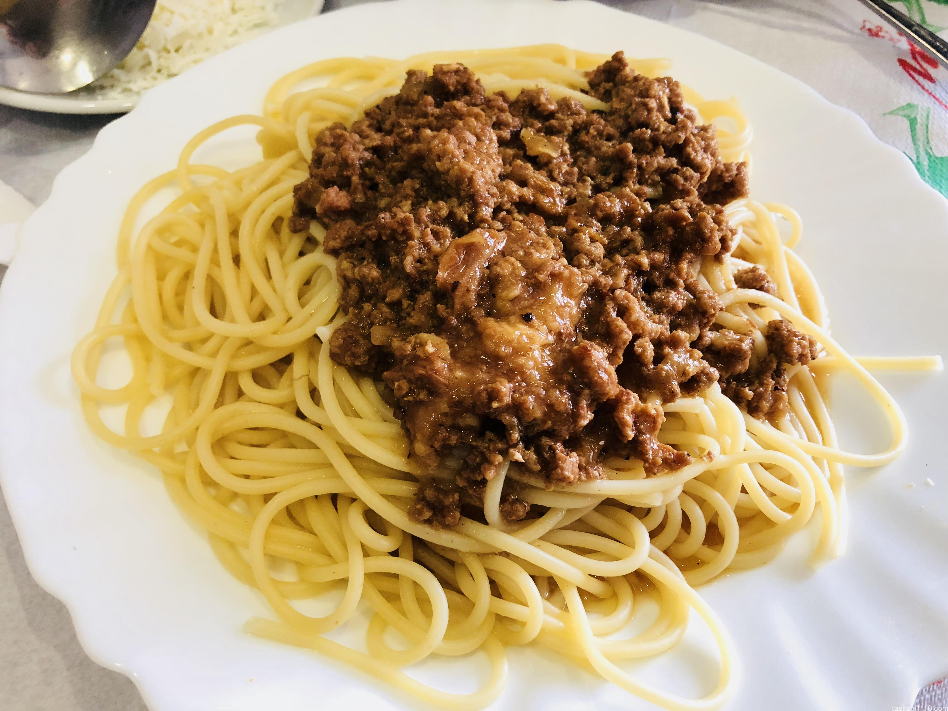 ジロカストラ|スパゲッティ