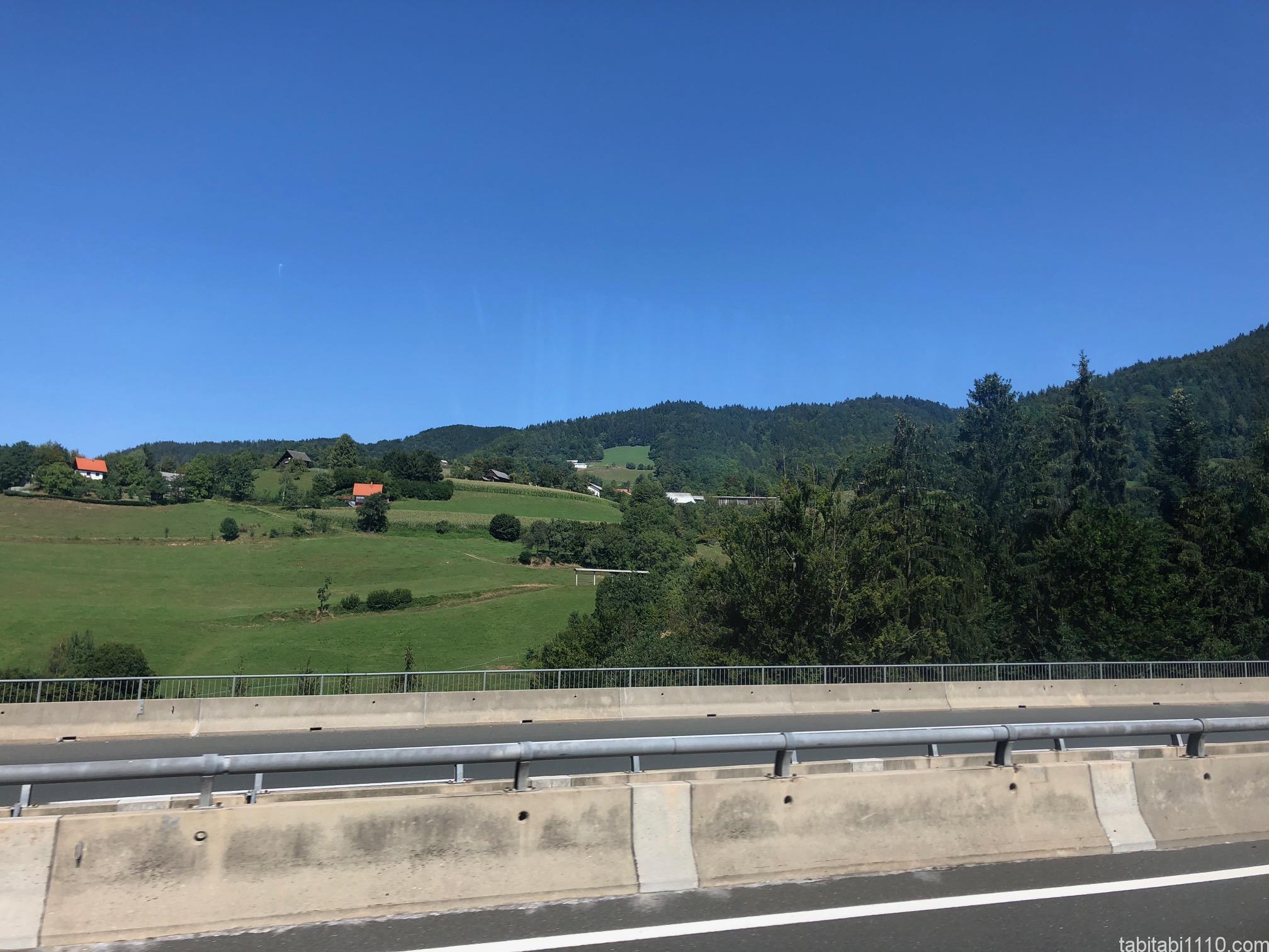 リュブリャナからウィーンまでの風景