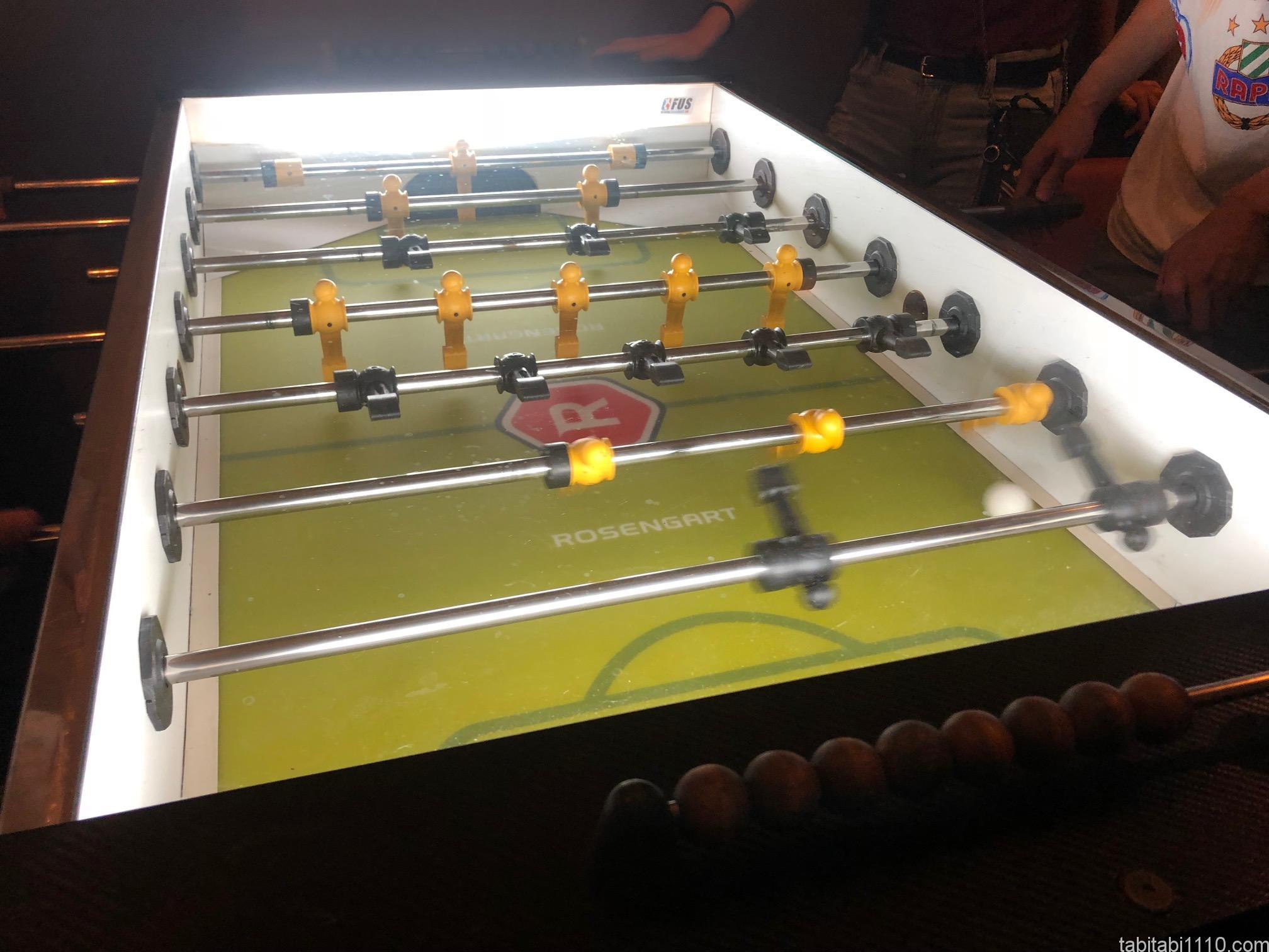 サッカーのボードゲーム