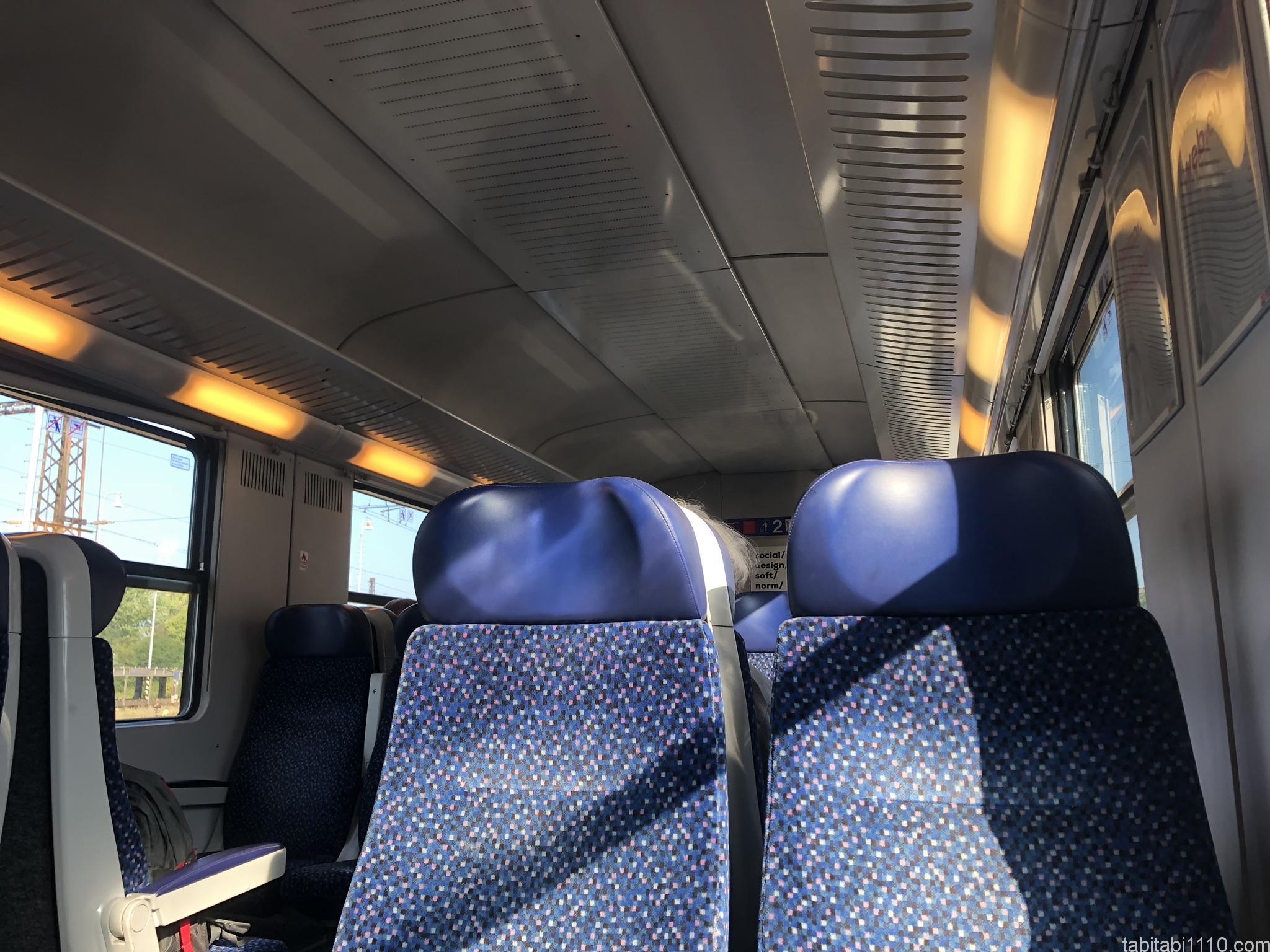 ブラチスラバからウィーンへの電車