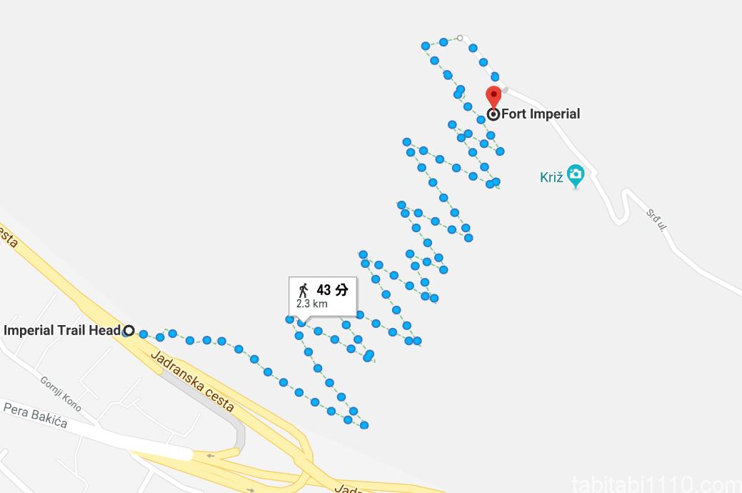 スルジ山登山経路