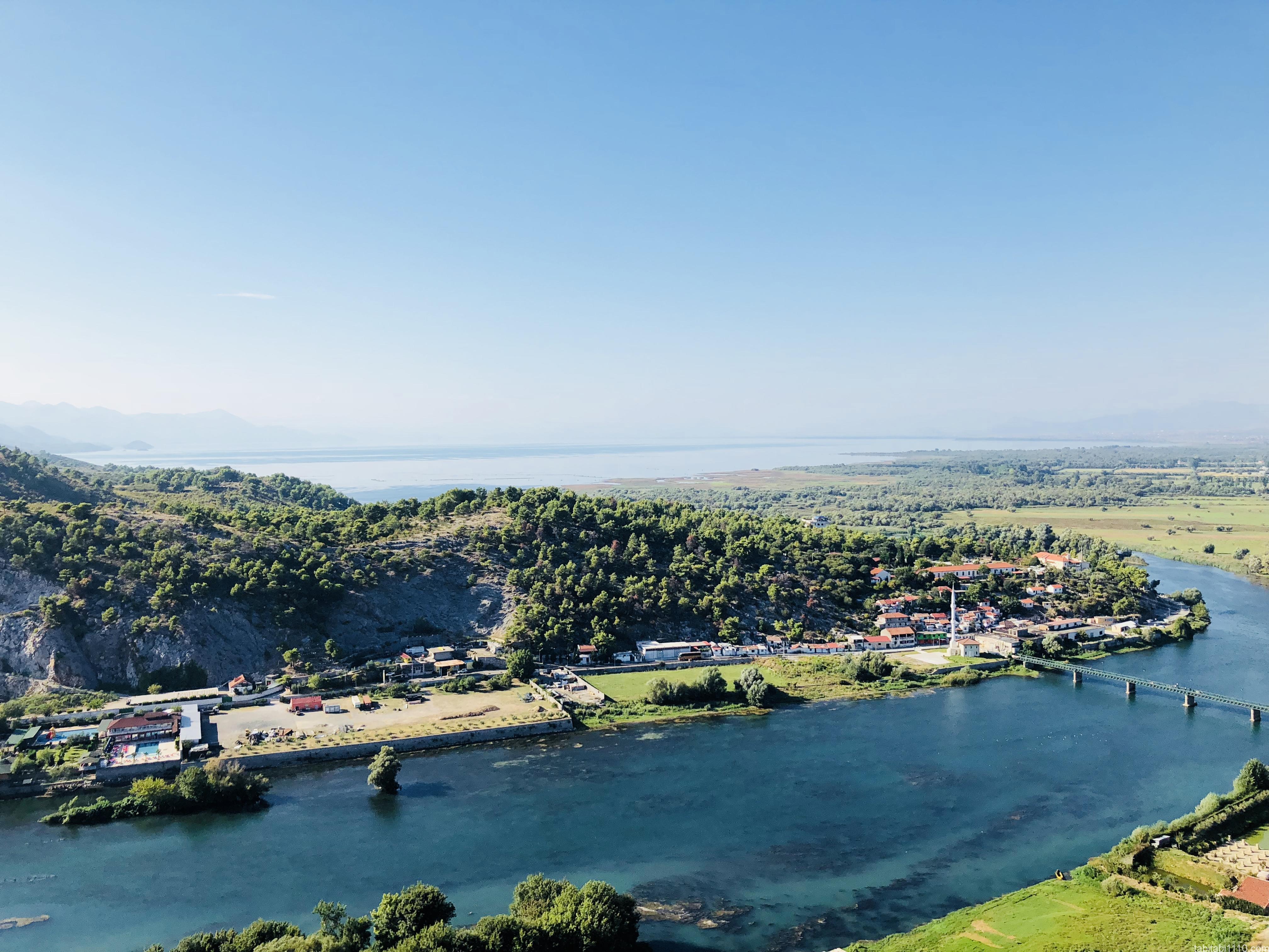 シュコドラ ロザファ城からの景色