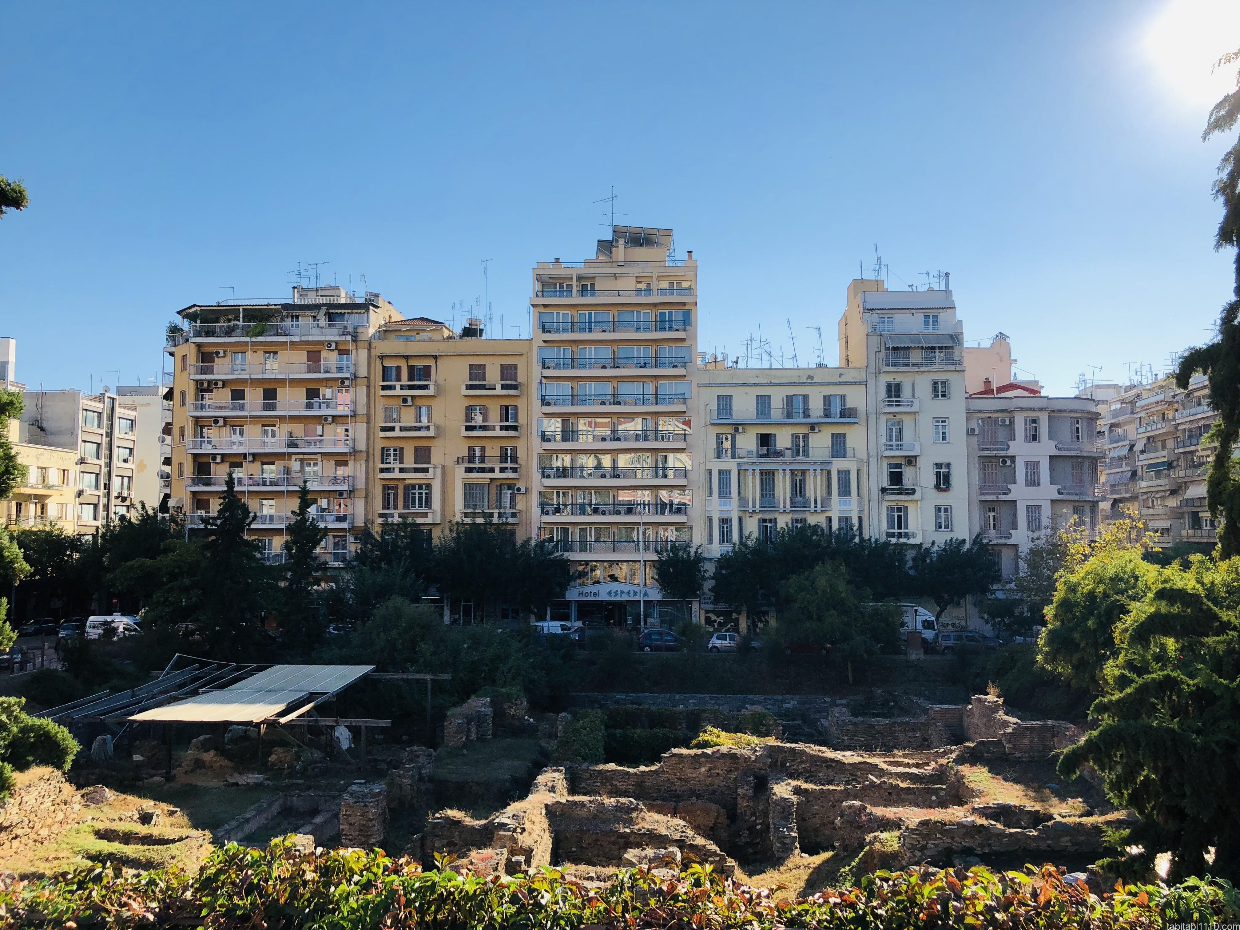 テッサロニキ観光|街中にある何かの遺跡