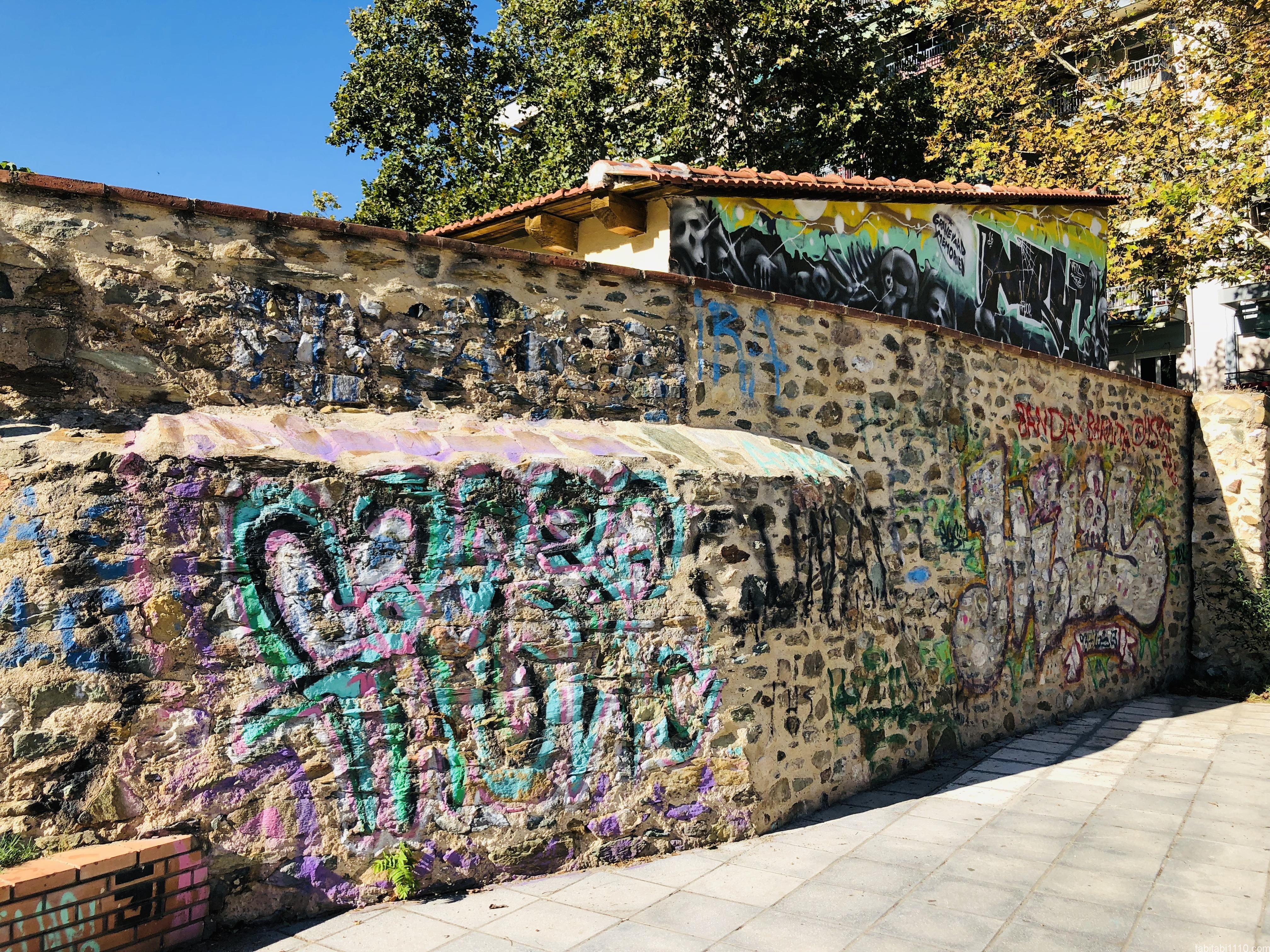 テッサロニキ観光|ロトンダ周辺の落書き