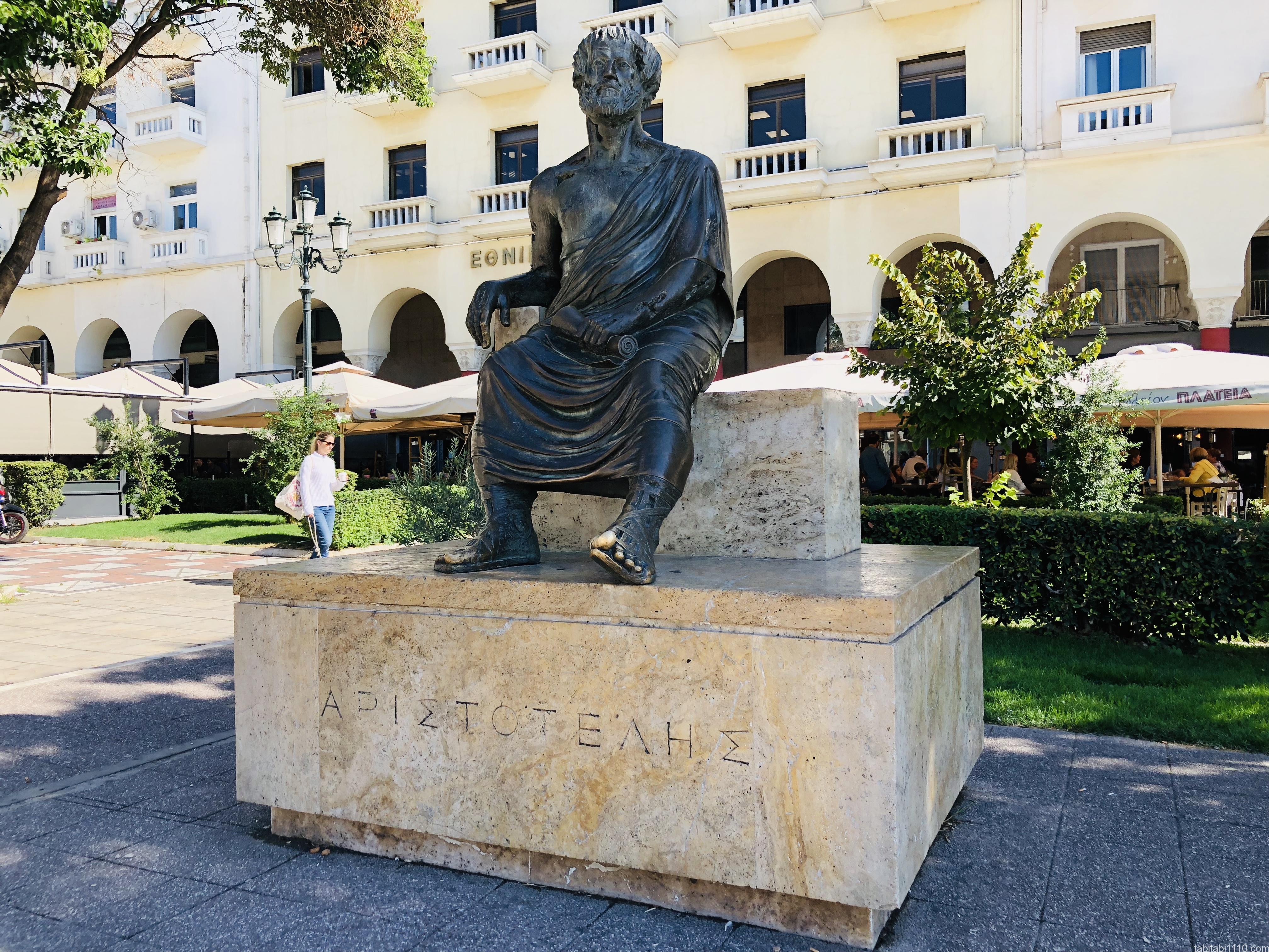 テッサロニキ観光|アリストテレス広場のアリストテレス像