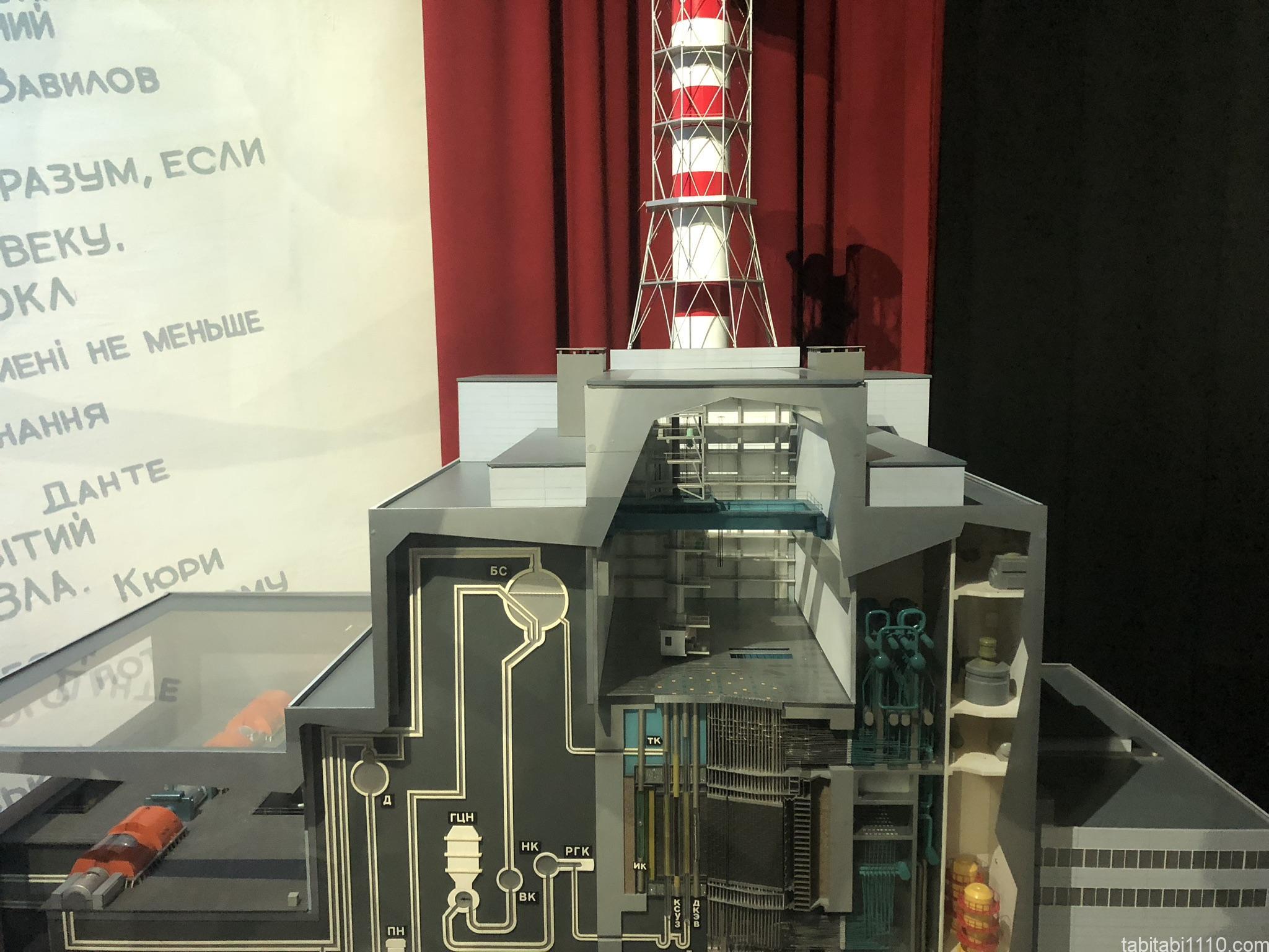 チェルノブイリ原発博物館|原発の模型