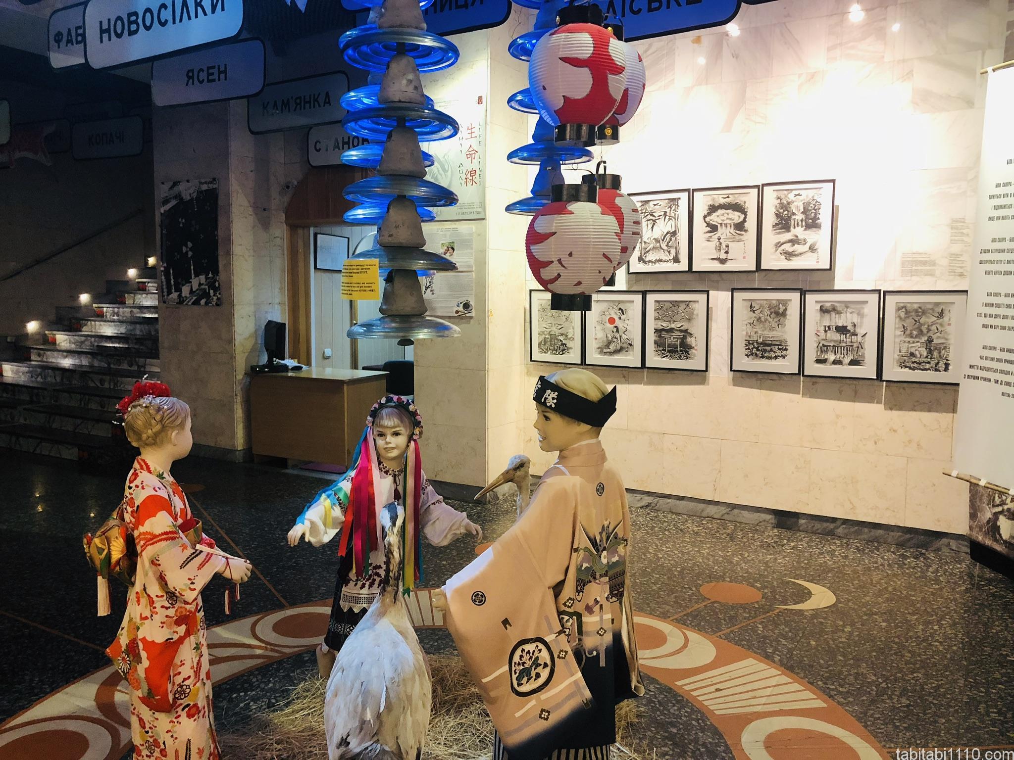チェルノブイリ原発博物館|日本の展示
