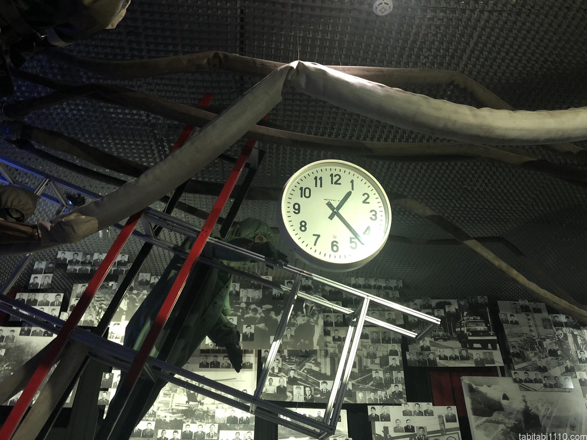 チェルノブイリ原発博物館|止まった時計
