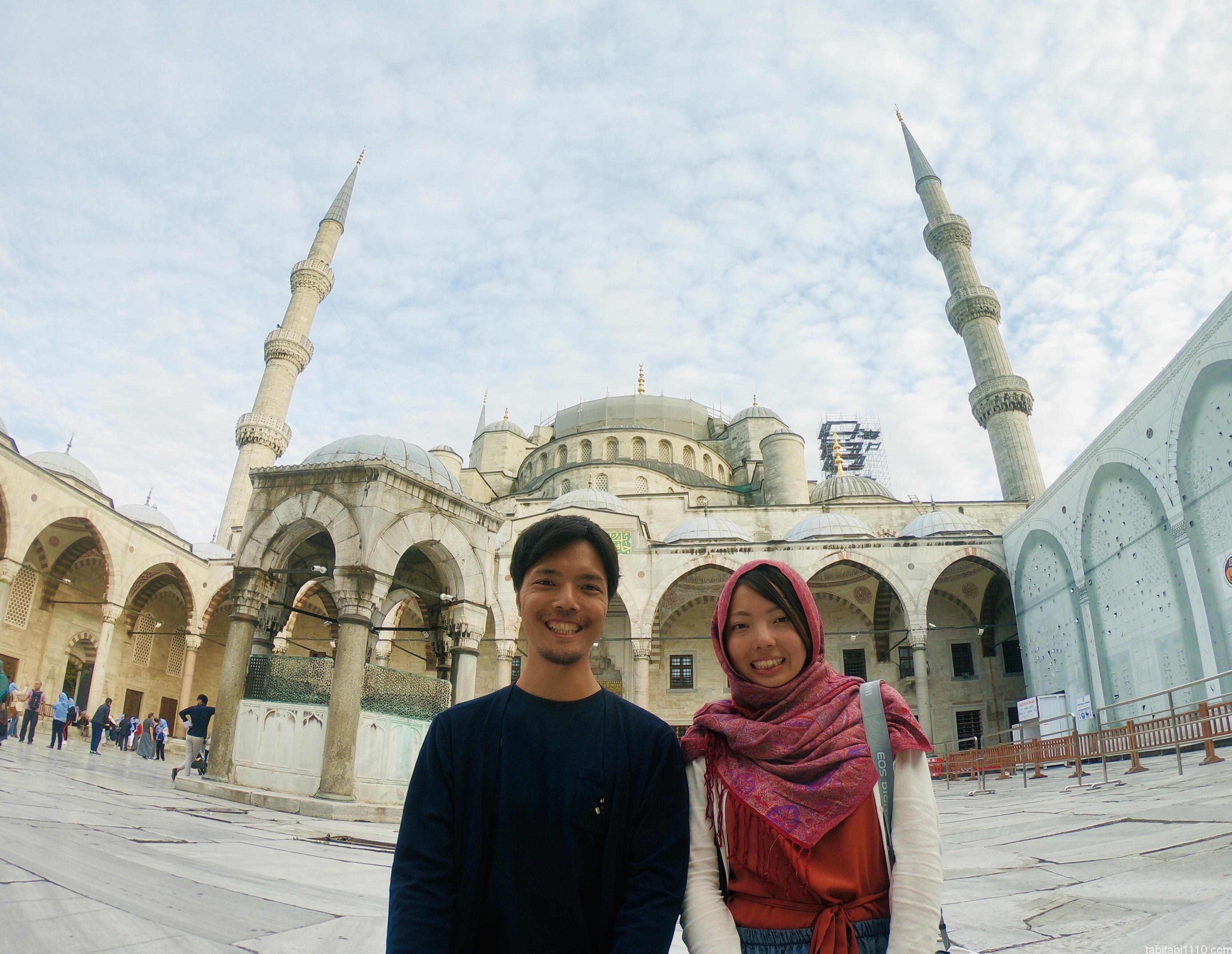 イスタンブール|ブルーモスク記念写真